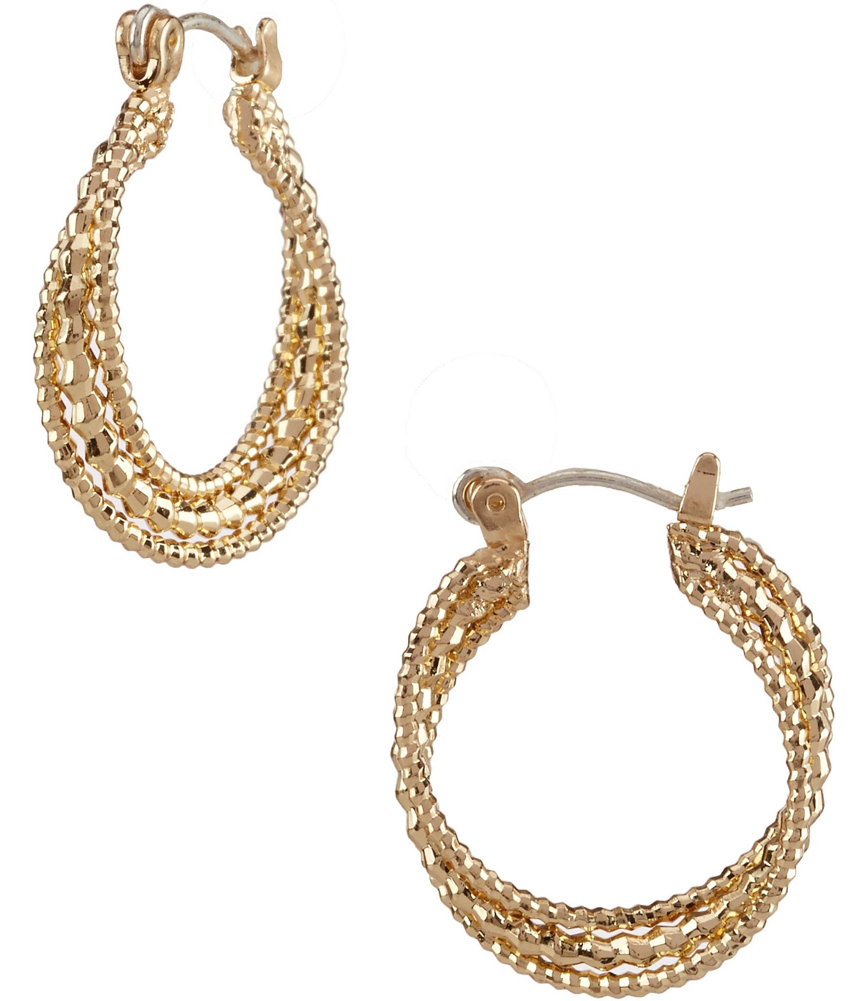 dillard 180 s tailored small twist hoop earrings dillards