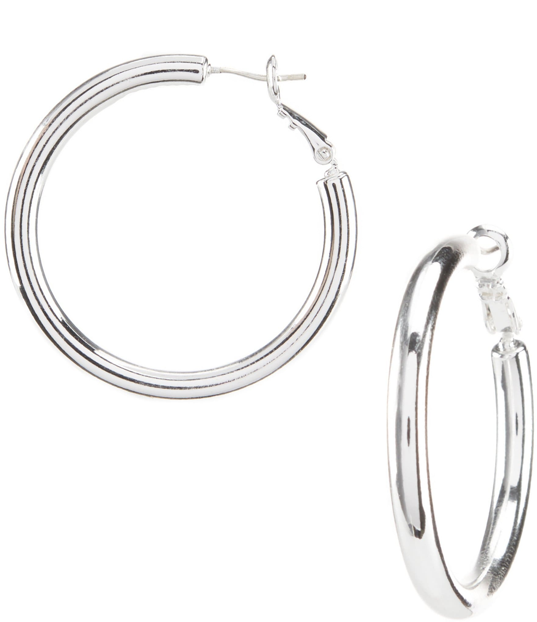 Dillard S Tailored Thick Wire Hoop Earrings