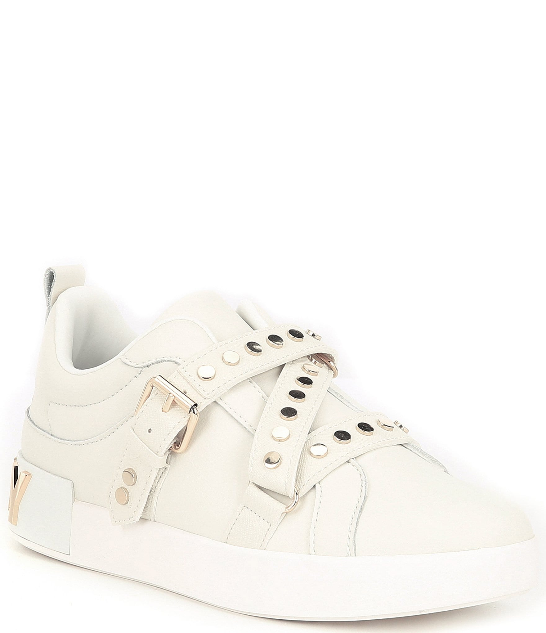 DKNY Studz Leather Studded Sneakers