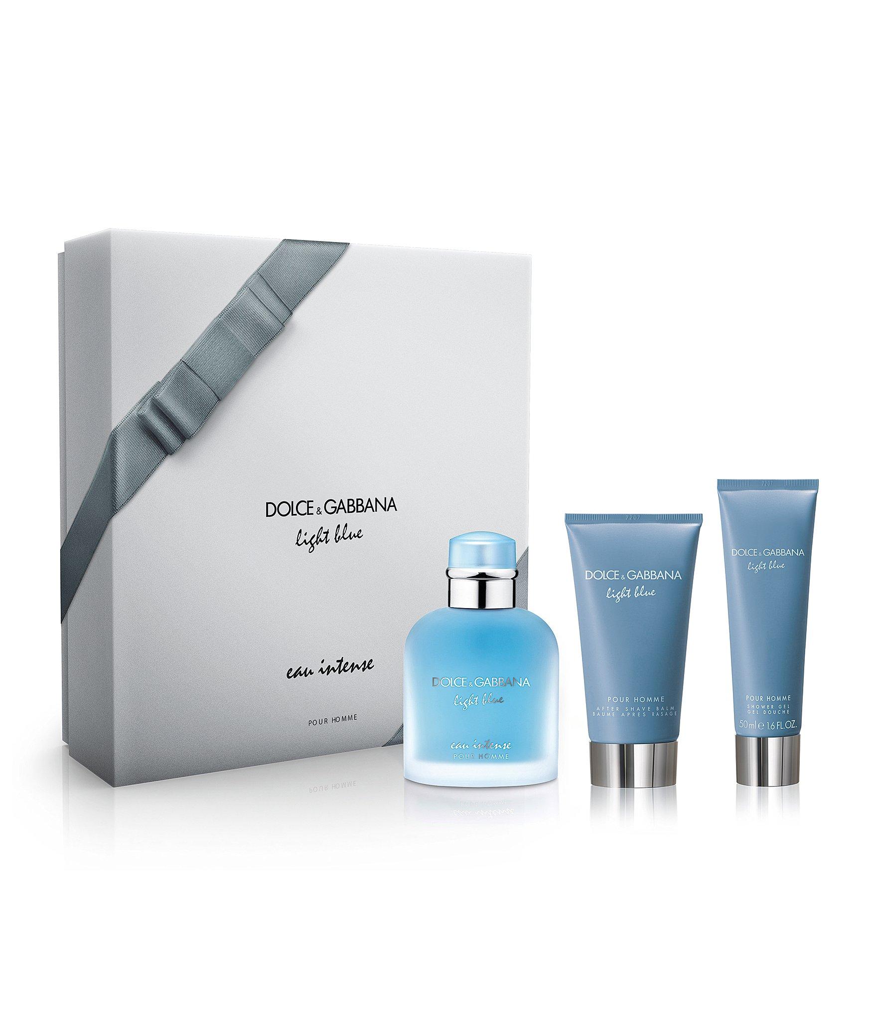 dolce gabbana light blue eau intense pour homme gift set dillards. Black Bedroom Furniture Sets. Home Design Ideas