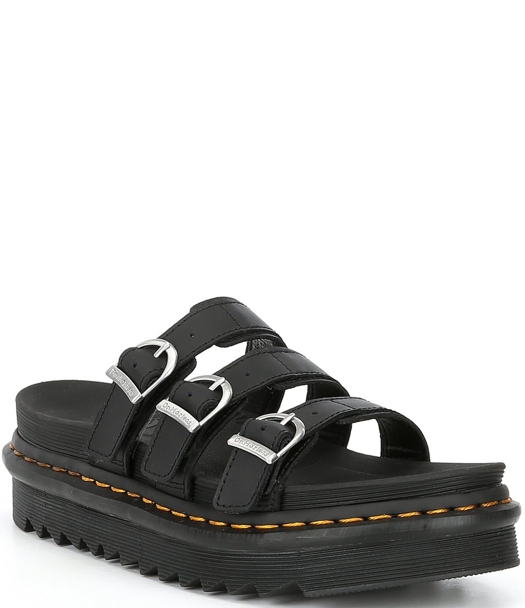 black dr marten sandals
