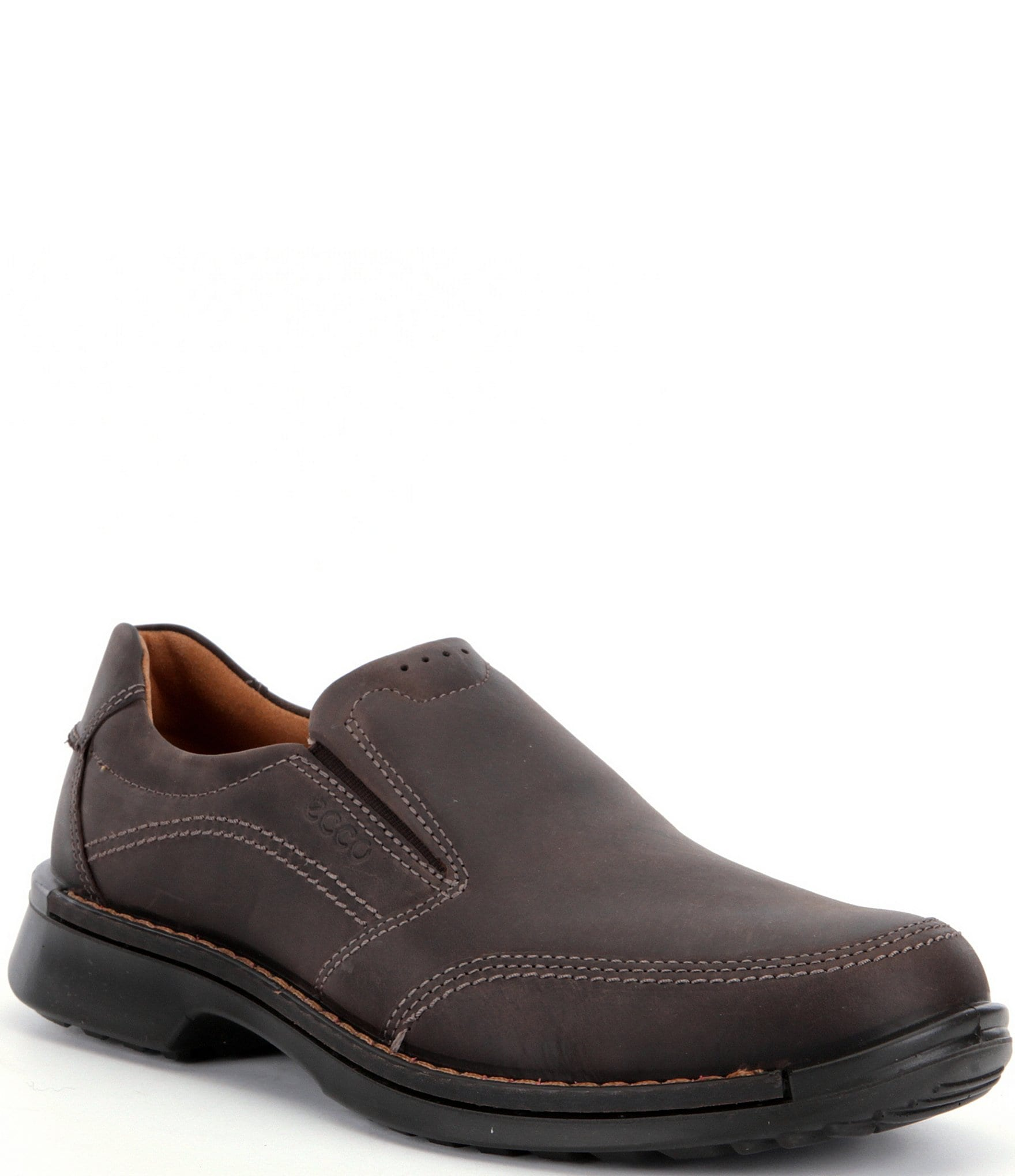 ECCO Men's Fusion II Perforated Leather Slip Ons | Dillard's