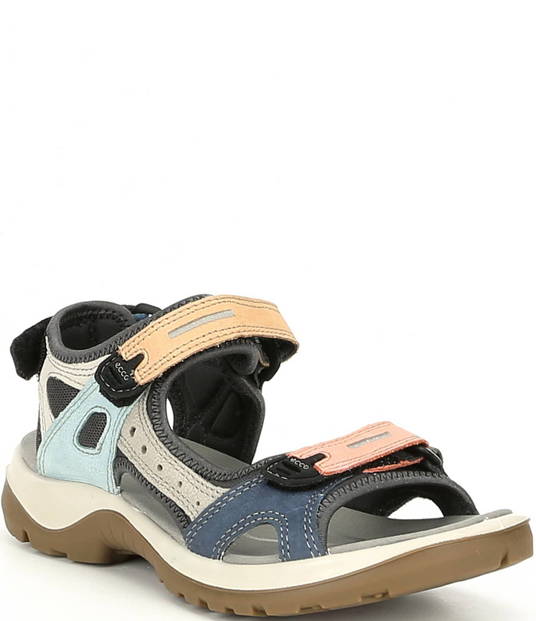 ECCO Women's Yucatan Offroad Multi Colored Banded Outdoor Sandals | Dillard's