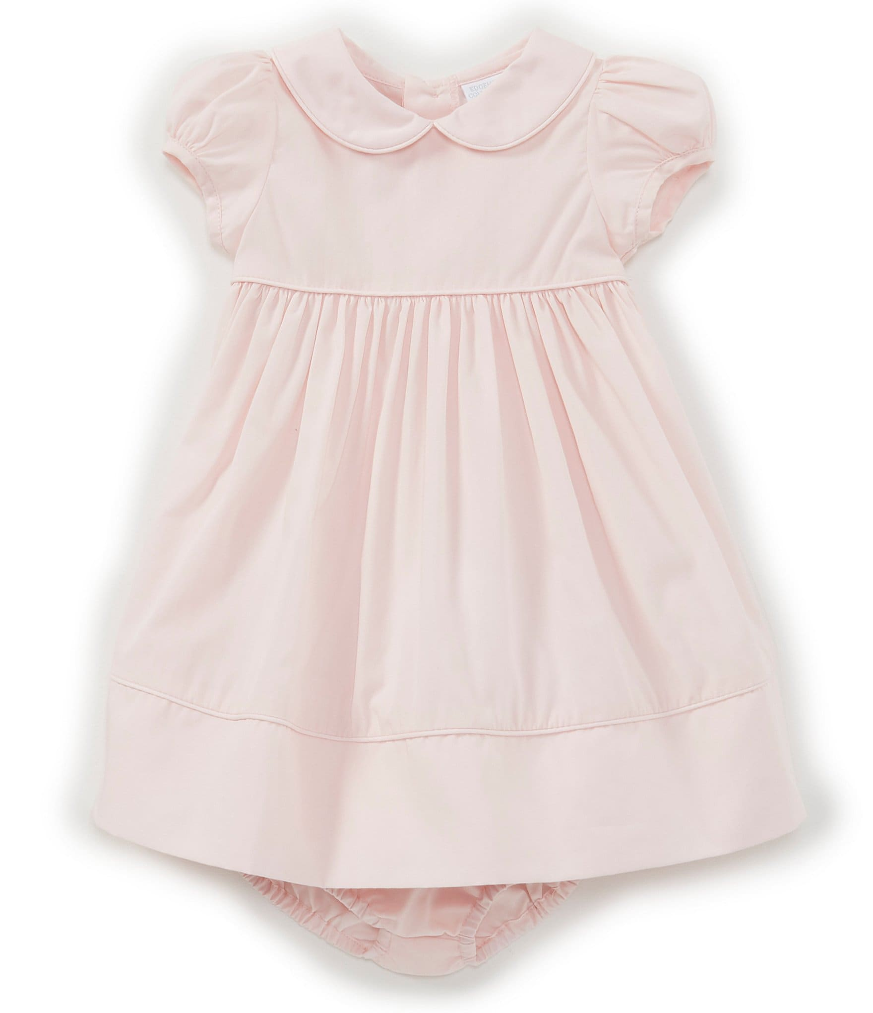 5015e0d163ee1 Edgehill Collection Baby Girls Newborn-24 Months Peter-Pan Collar Solid  A-Line Dress