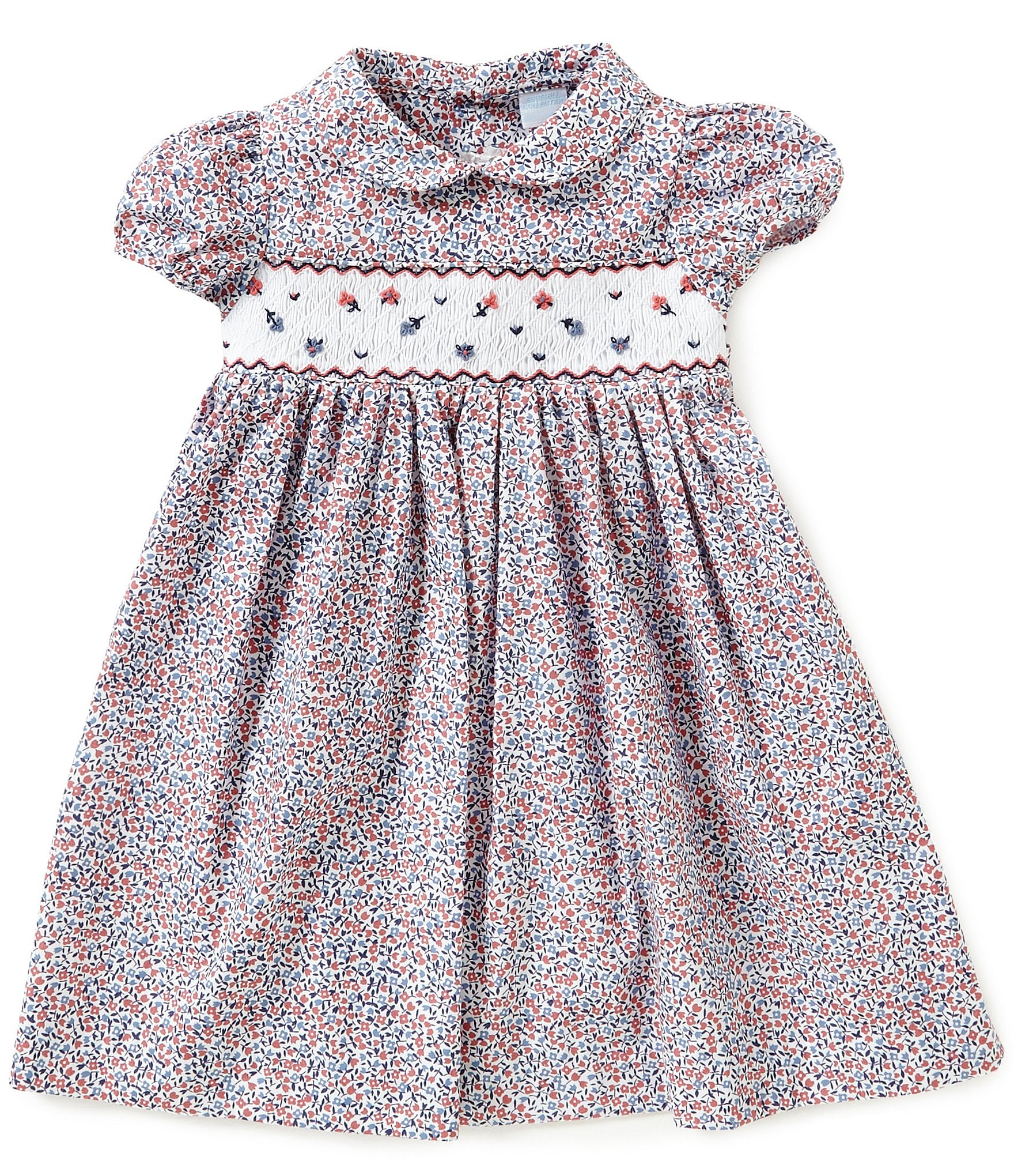 Edgehill Collection Little Girls 2T 4T Floral Smocked