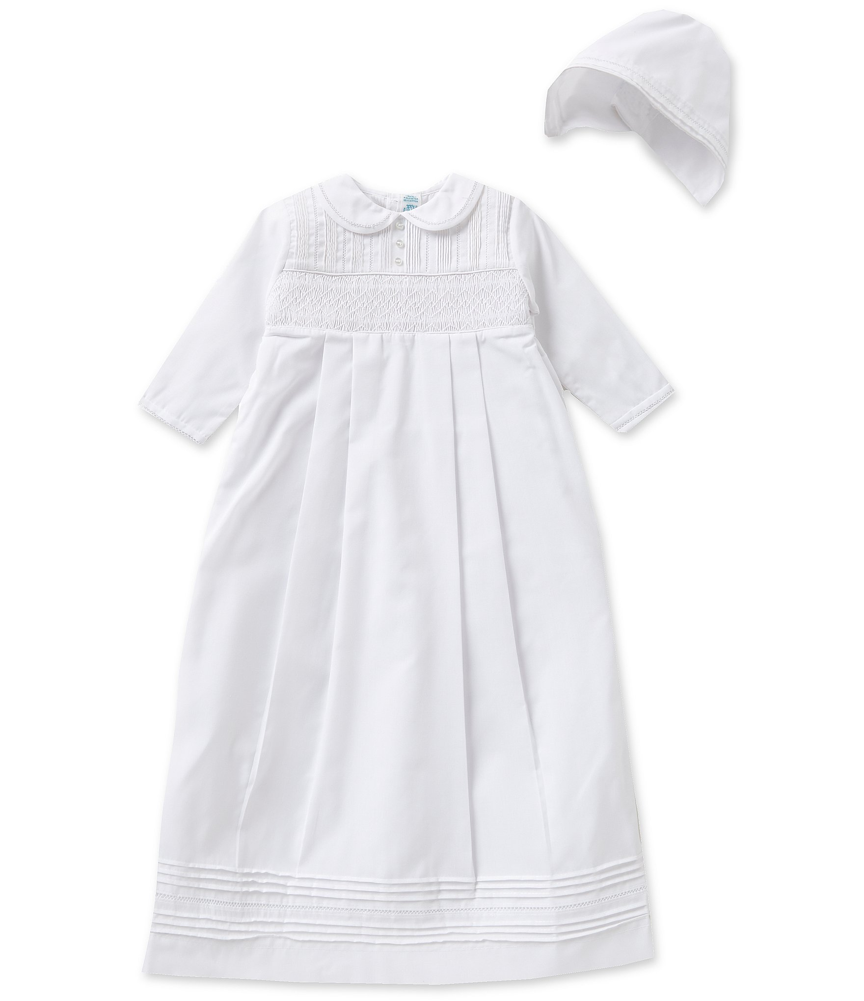 Gown Set, Gowns > Little Me® 2-Piece Bird Toile Gown and Hat Set, Darling owls frolic on this Little Me Newborn Gown and matching Hat. The elastic bottom will keep your little owl cozy and make changing a breeze; plus the fold-over mitts prevent your baby from self-scratching.