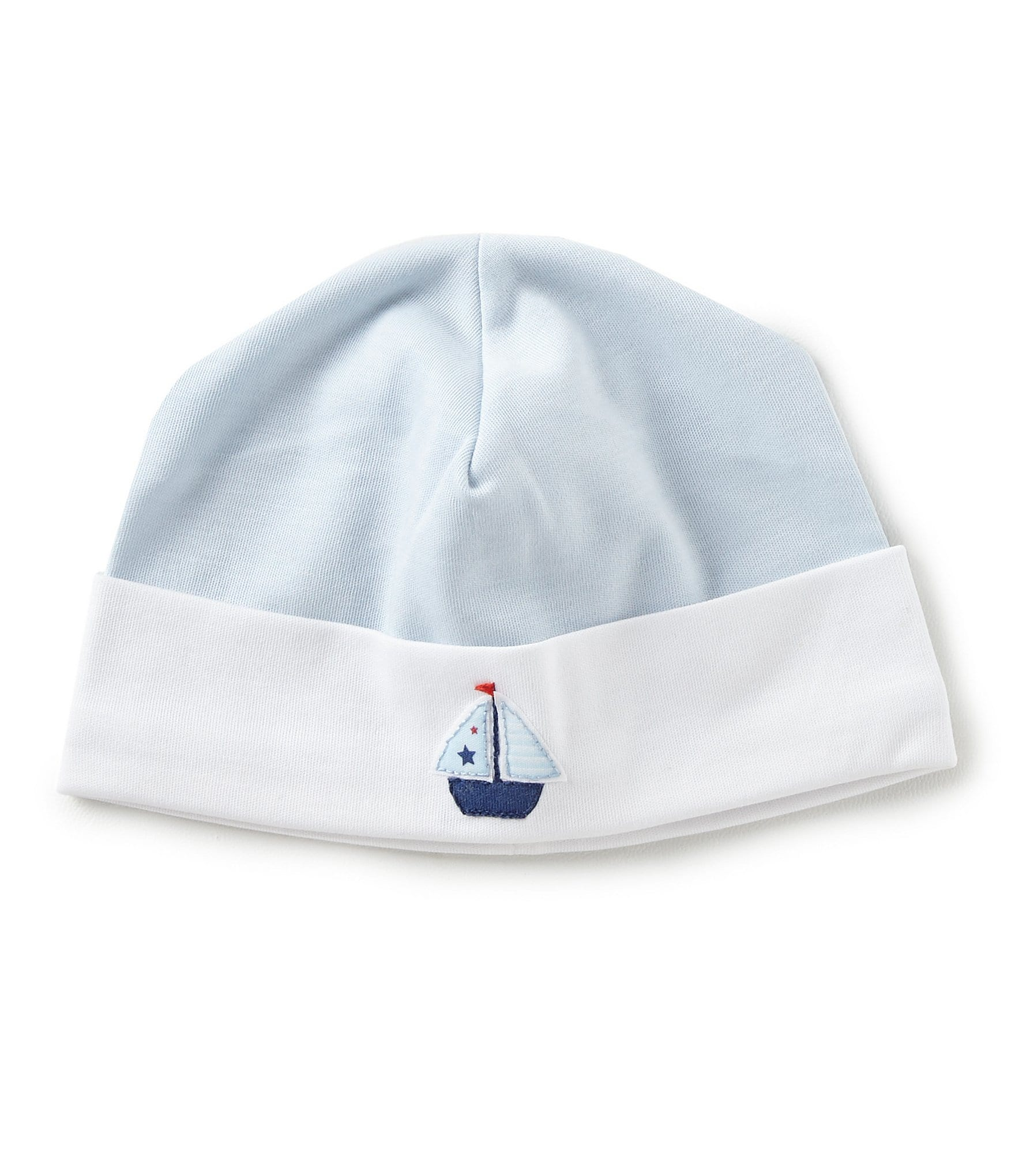 b32644ccb0099 Feltman Brothers Baby Boys Newborn Sailboat Embroidered Hat