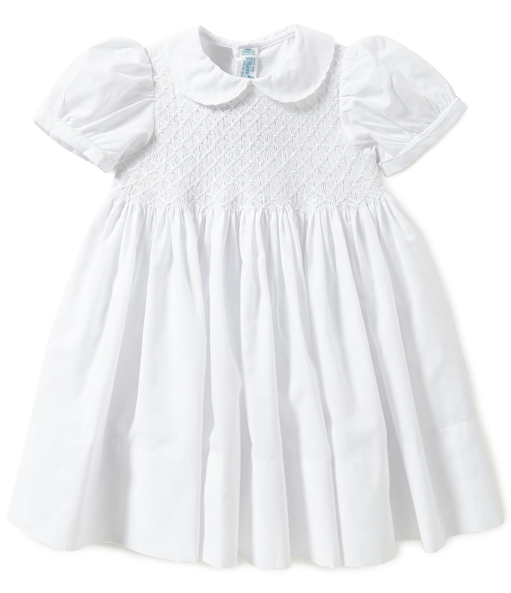 Feltman Brothers Baby Girls 12 24 Months Diamond Embroidered Smocked Dress