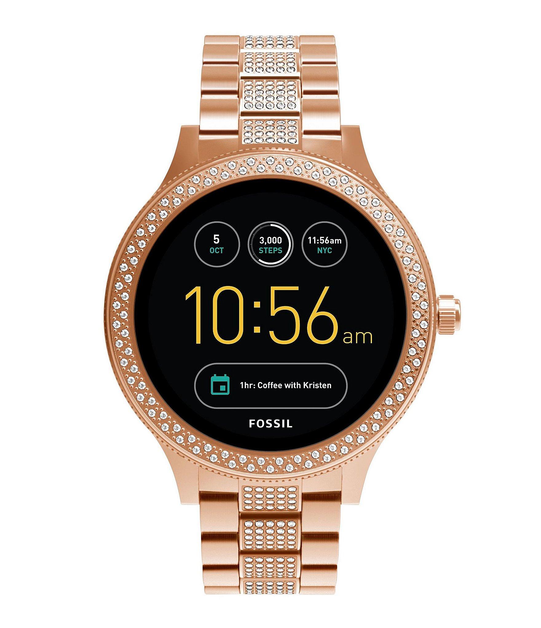 fossil q venture gen 3 pav bracelet smart watch dillards. Black Bedroom Furniture Sets. Home Design Ideas