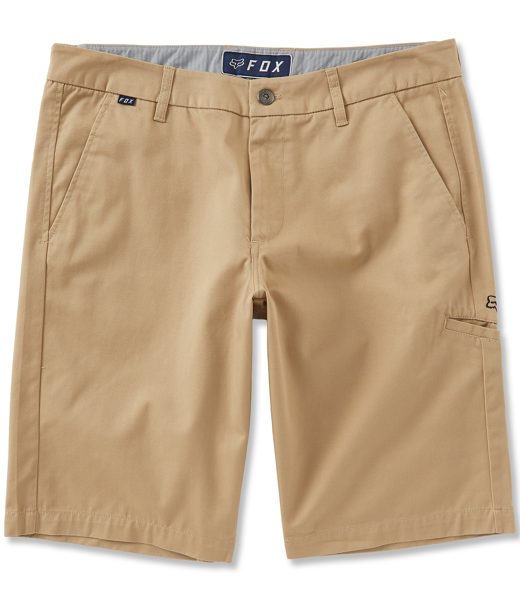 New Fox Slambozo Solid Cargo Shorts Dark Khaki