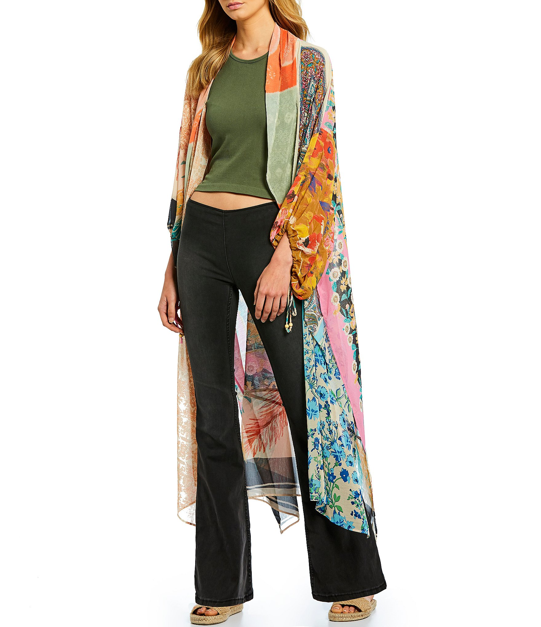 Asymmetrical Keeping Up With The Kimono Duster by Free People
