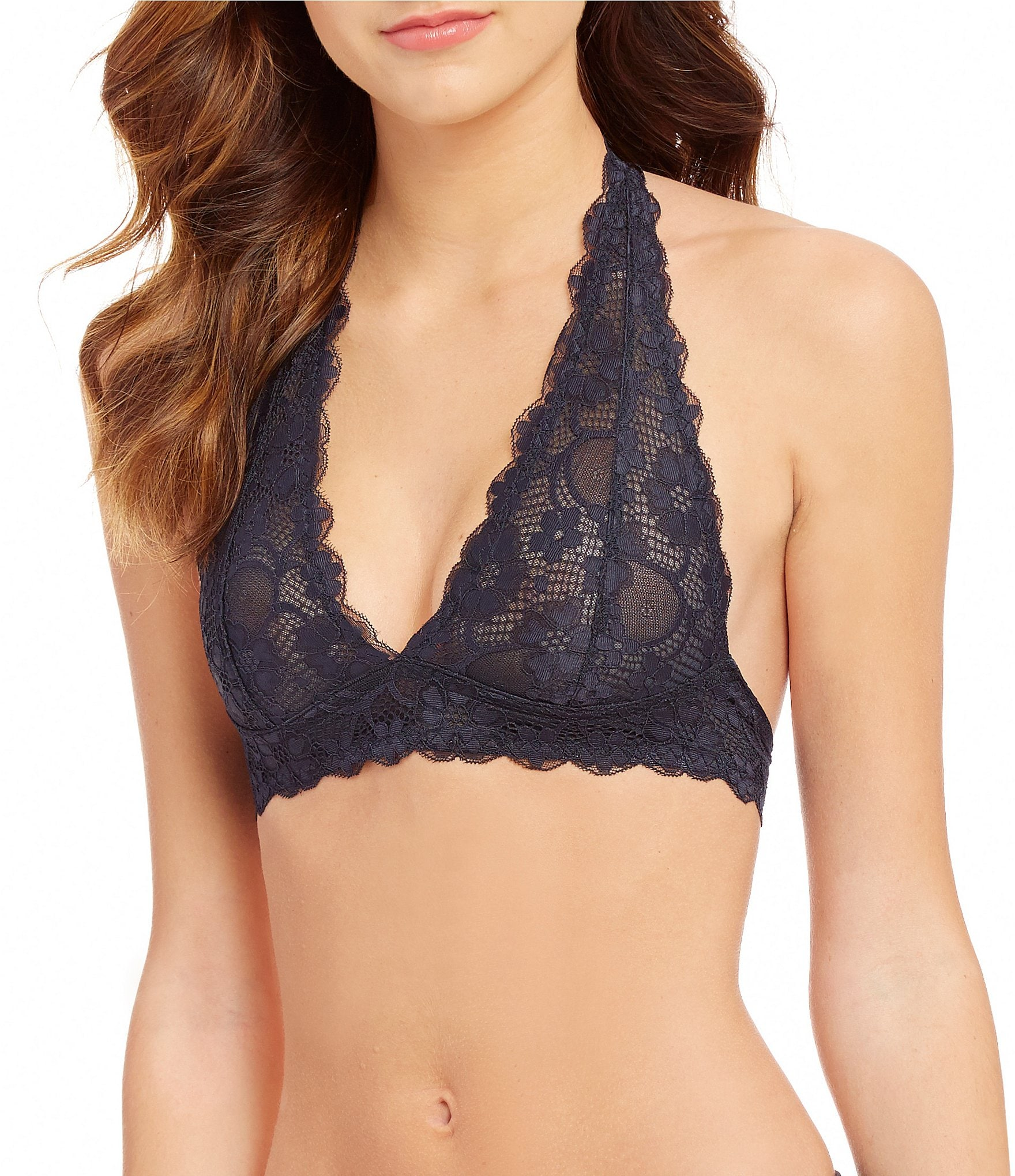 fb1a311a6164bb Free People Intimately FP Galloon Lace Halter Bralette