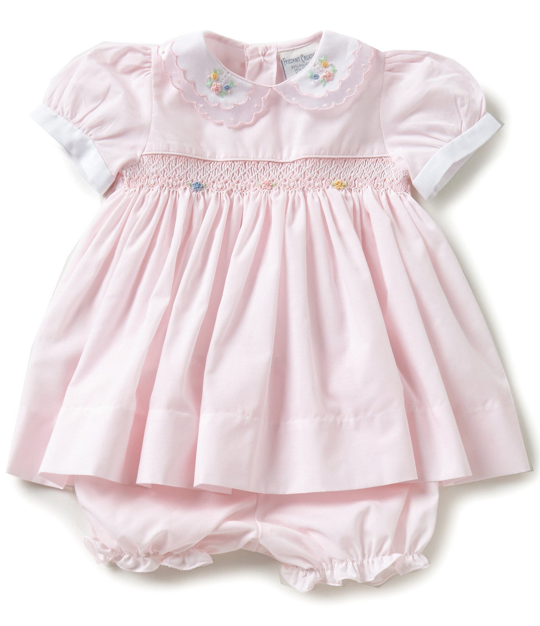 Friedknit Creations Baby Girls 3-9 Months Floral ...