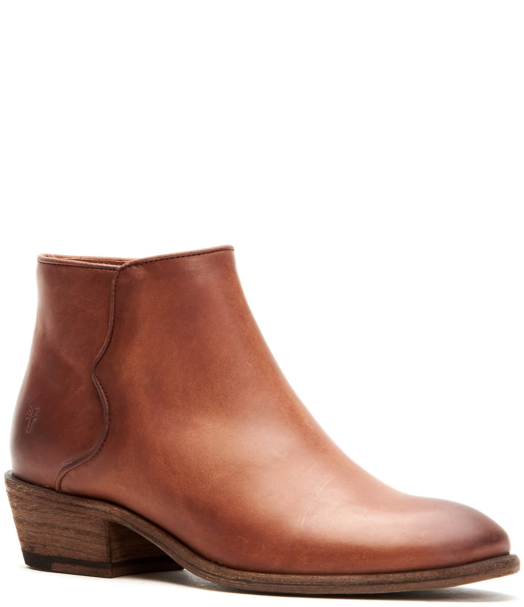 Frye Carson Leather Piping Block Heel