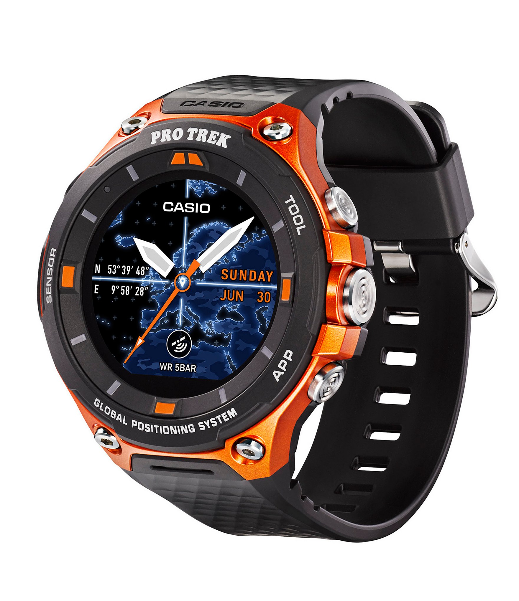 g shock pro trek gps smart watch dillards. Black Bedroom Furniture Sets. Home Design Ideas