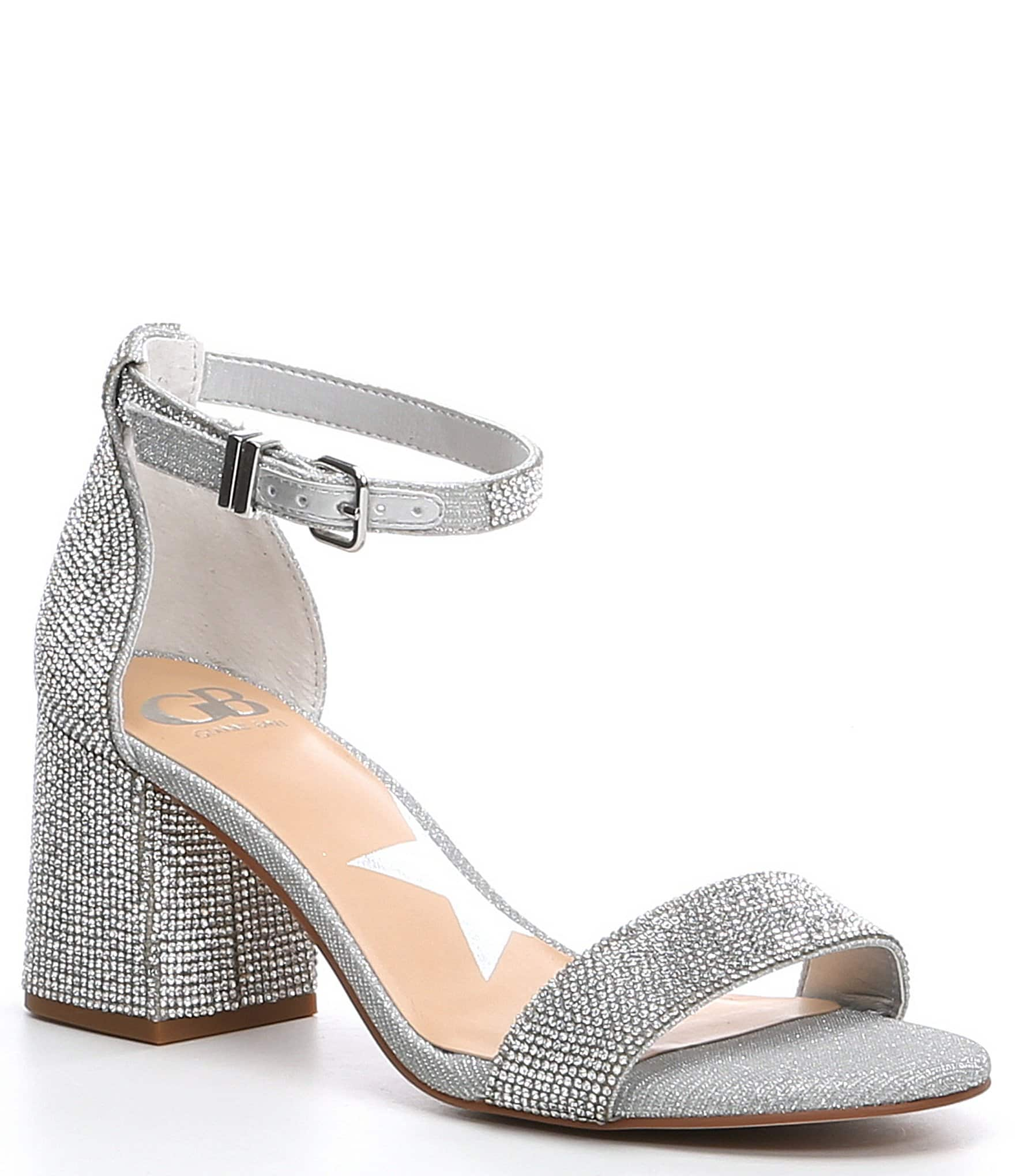06be6a3157dfc GB Bling-Out Rhinestone Embellished Block Heel Sandals