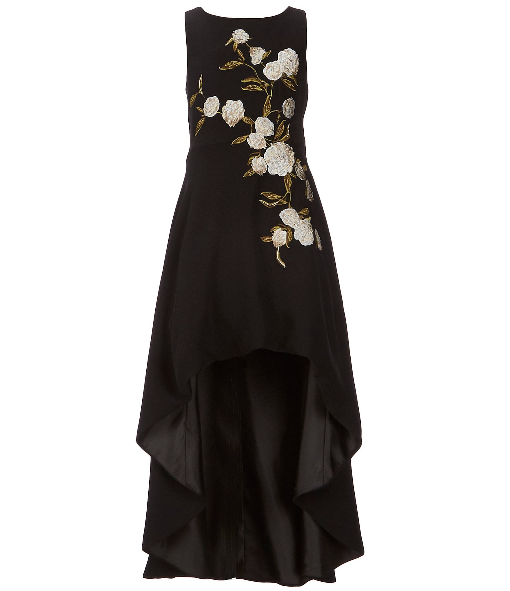 new arrive closer at classic style GB GB Girls Social Big Girls 7-16 Floral Embroidered Hi-Low Dress