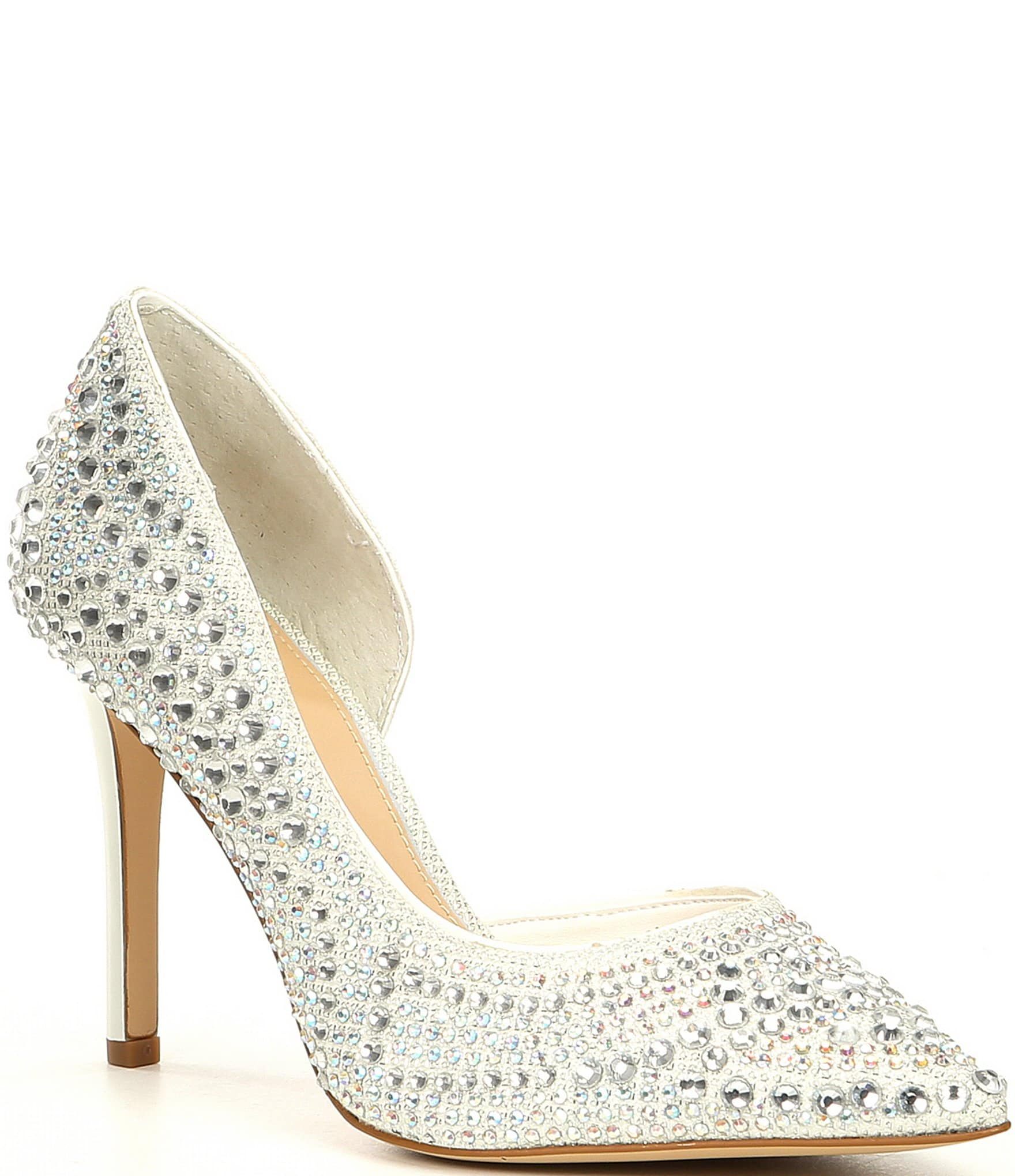 Gianni Bini Bridal Collection Mairah Jewel Embellished d'Orsay Stiletto Pumps