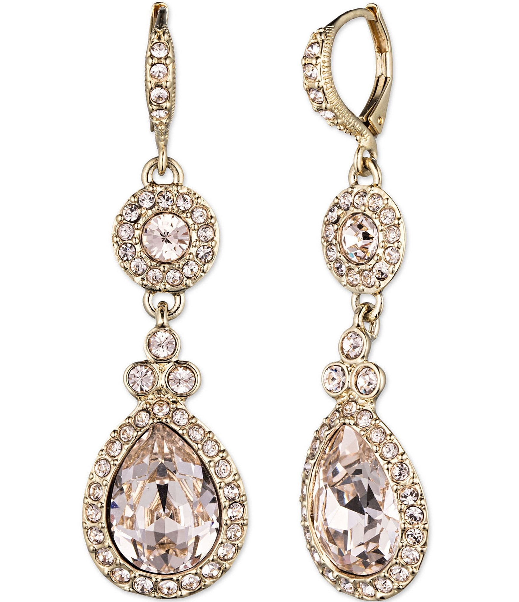 Givenchy Crystal Drop Earrings Dillard S