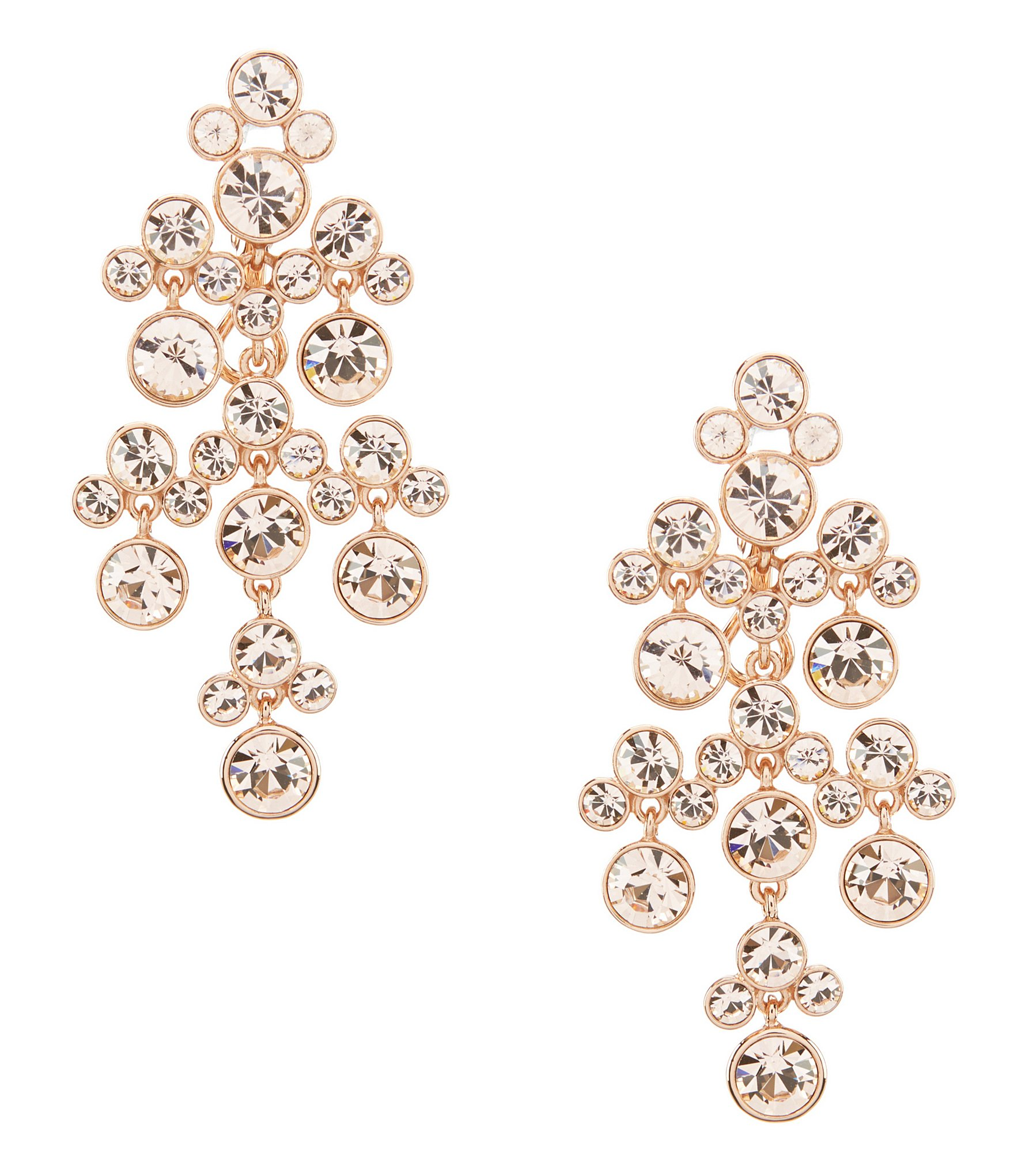 Givenchy Rose Gold Chandelier Statement Earrings