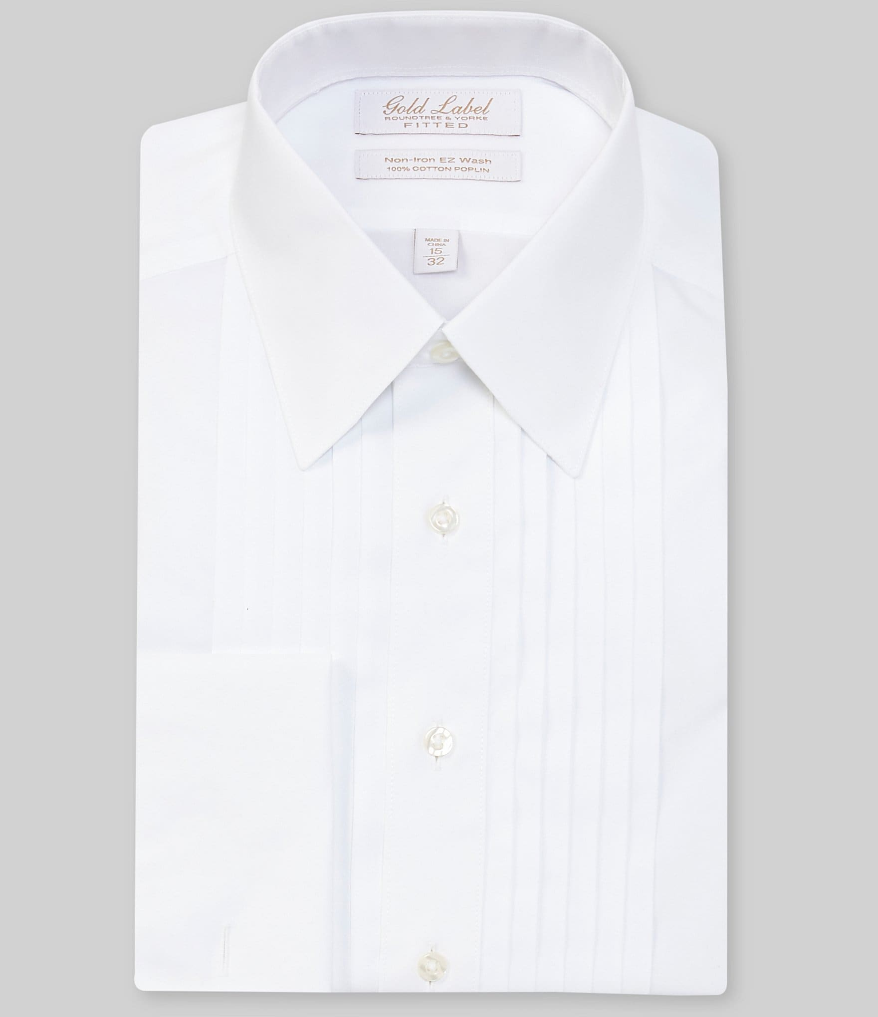 Gold Label Roundtree Yorke Non Iron Fitted Point Collar