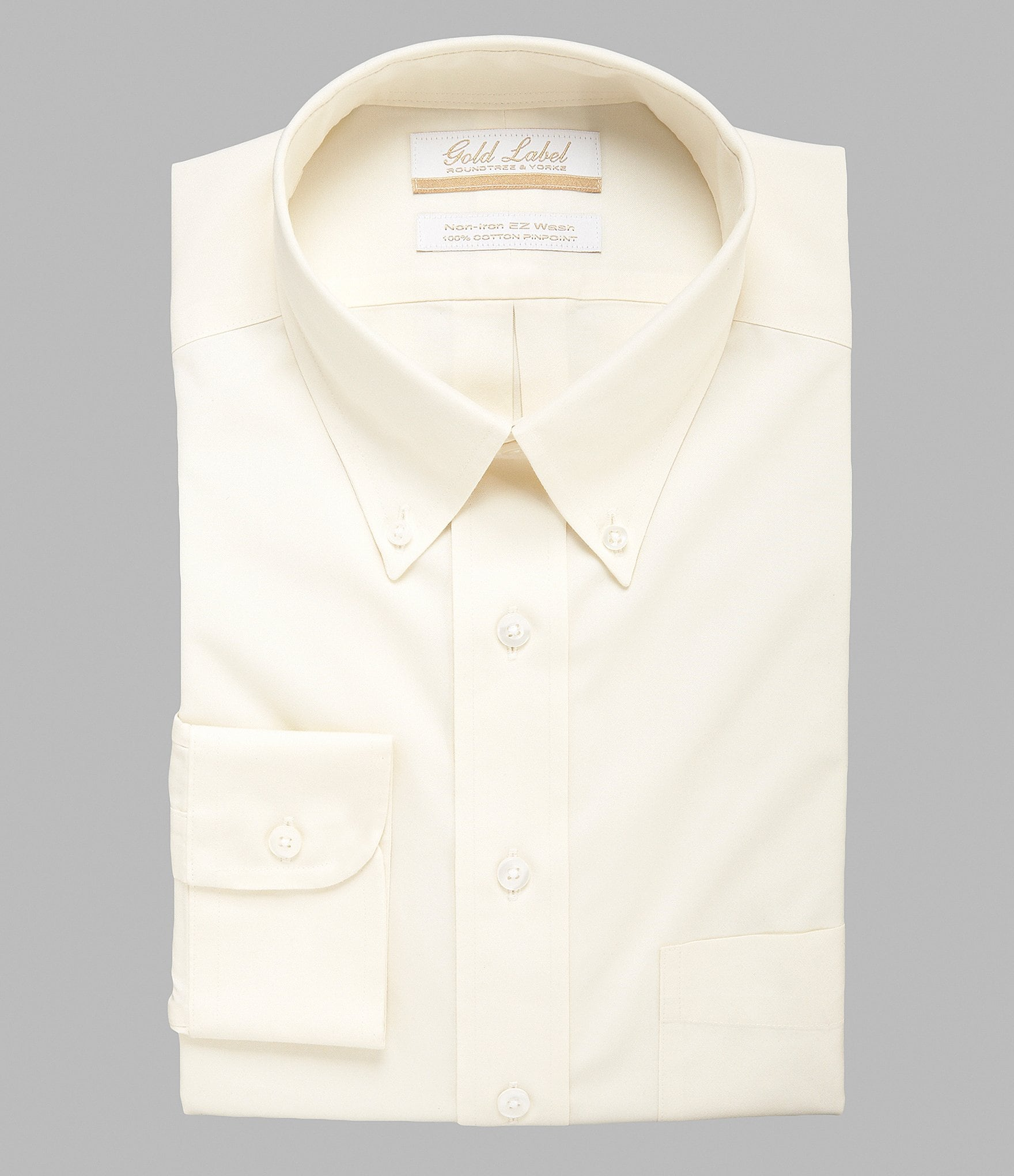 Gold label roundtree yorke non iron regular full fit for White non iron dress shirts