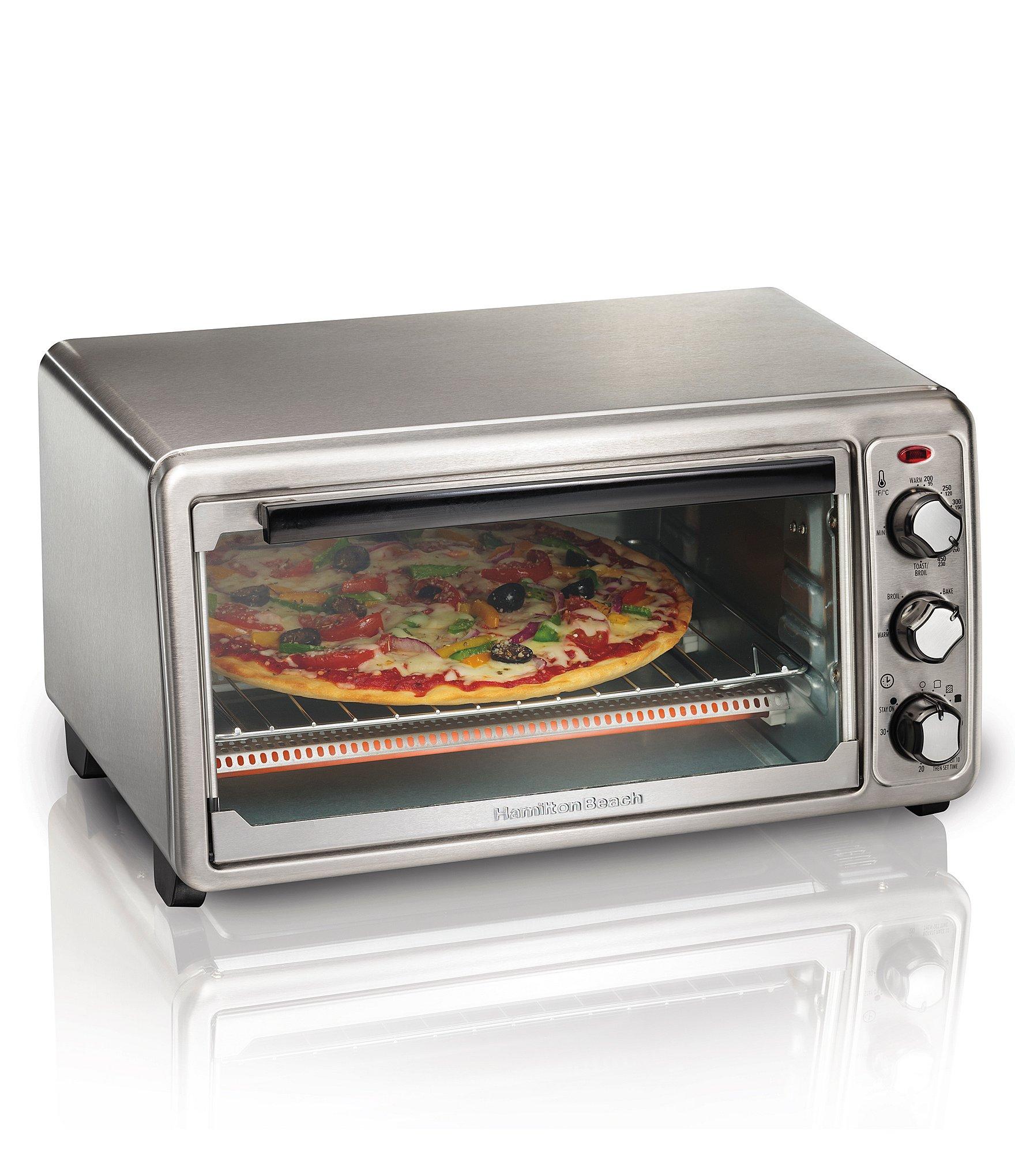 Hamilton beach 6 slice stainless steel toaster oven dillards for Hamilton beach pioneer woman slow cooker