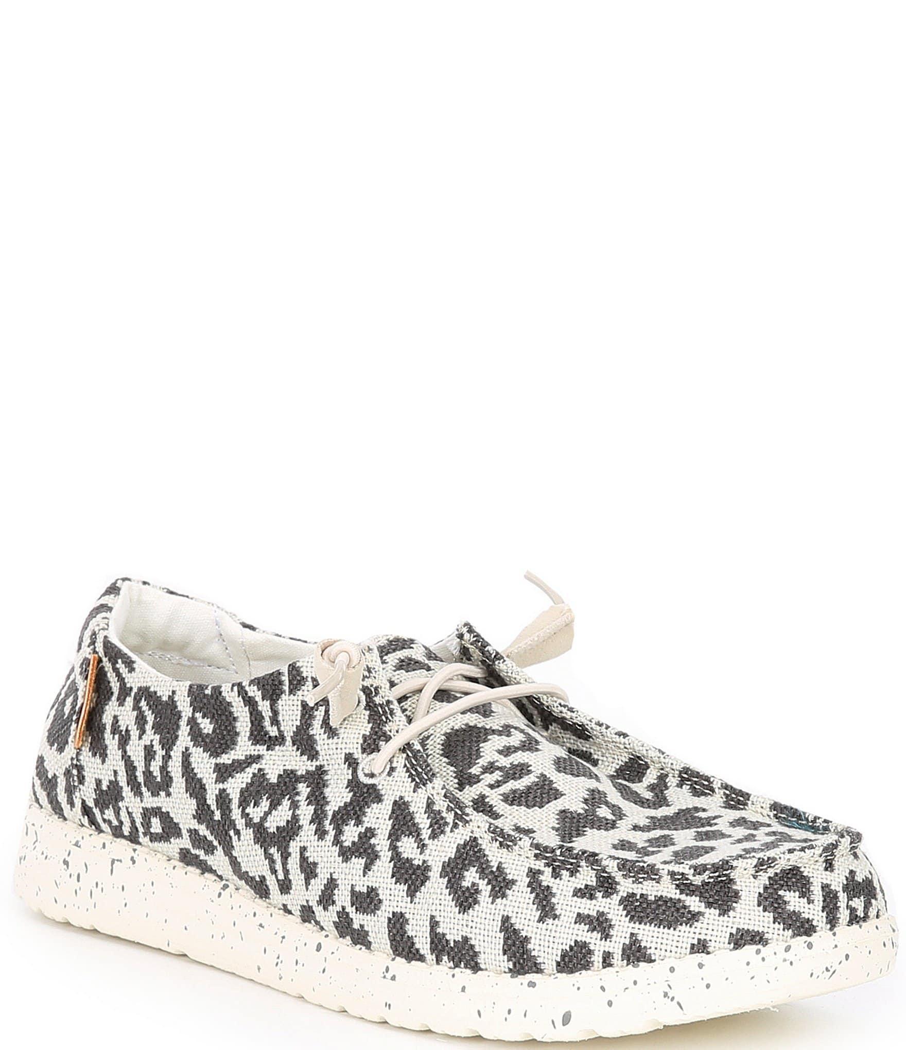 Wendy Woven Cheetah Print Slip-Ons