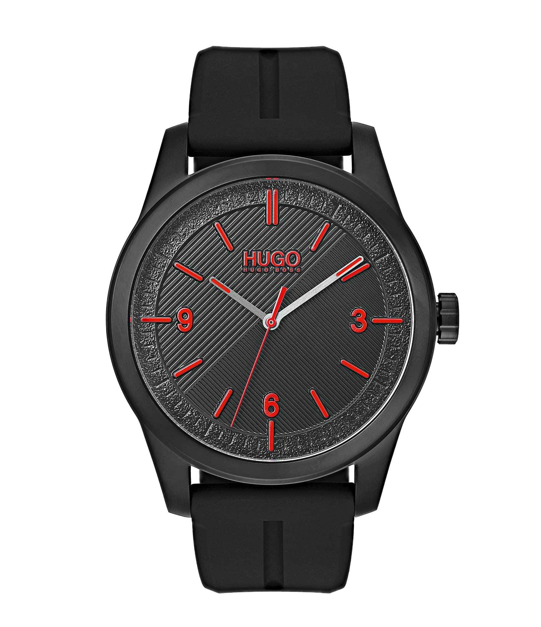 b05978b27 HUGO HUGO BOSS #Create Black Rubber Strap Analog Watch | Dillard's