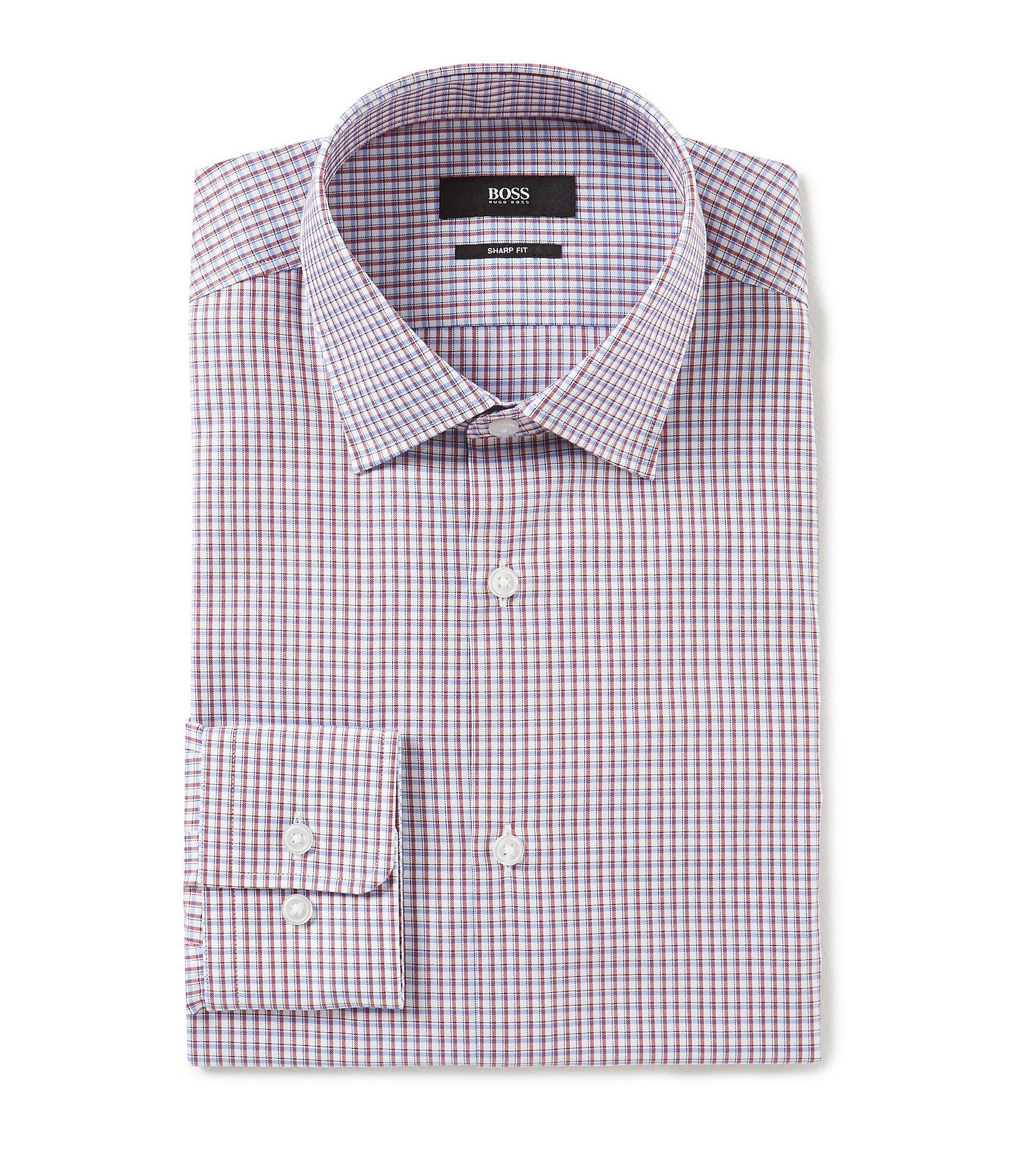 Hugo Hugo Boss Slim Fit Spread Collar Checked Dress Shirt