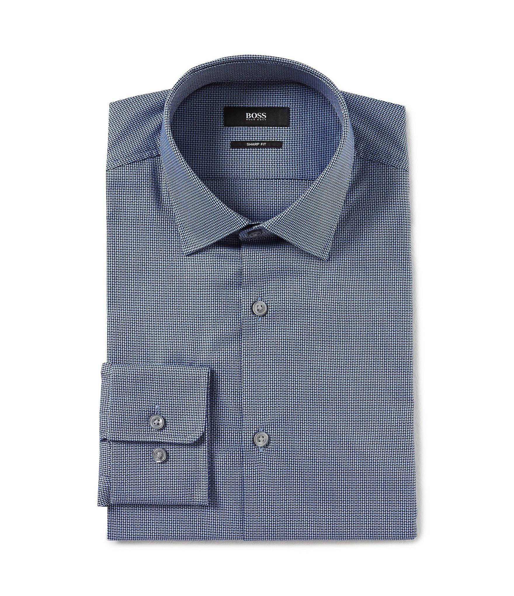 Hugo hugo boss sharp fit point collar solid dress shirt for Hugo boss dress shirt review
