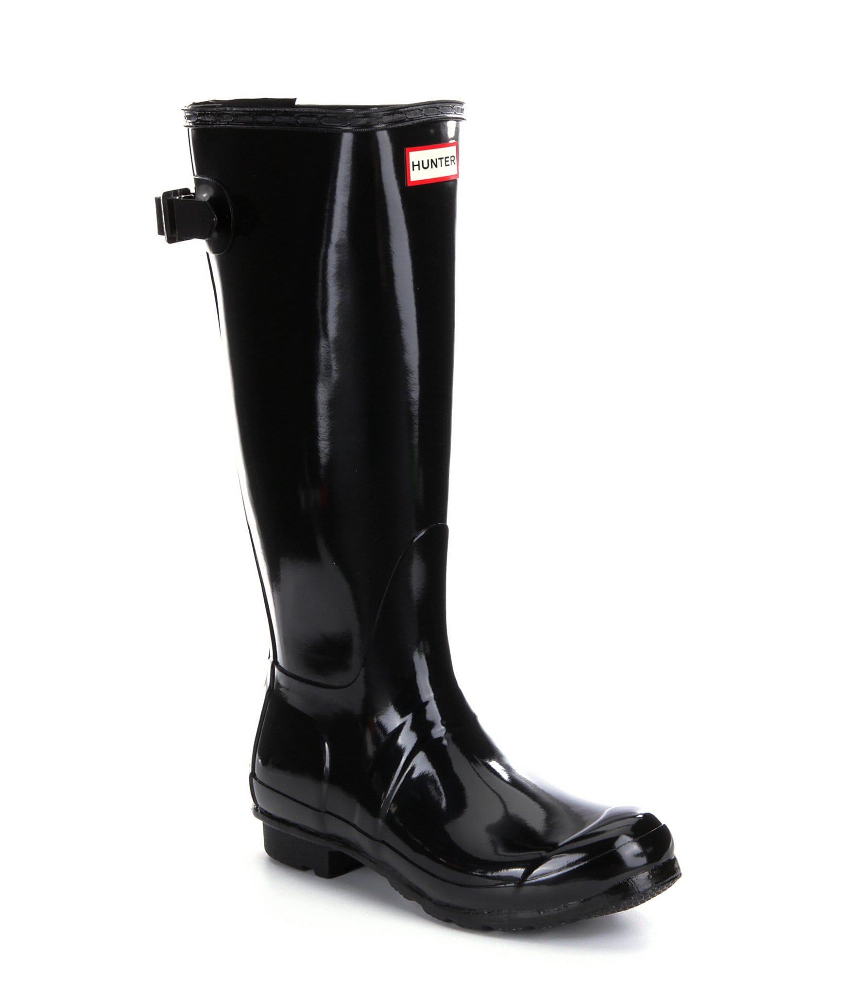 Cool WOMENS HUNTER WELLINGTON BOOTS ORIGINAL TALL GLOSS SNOW WELLIES LADIES UK 3-8 | EBay