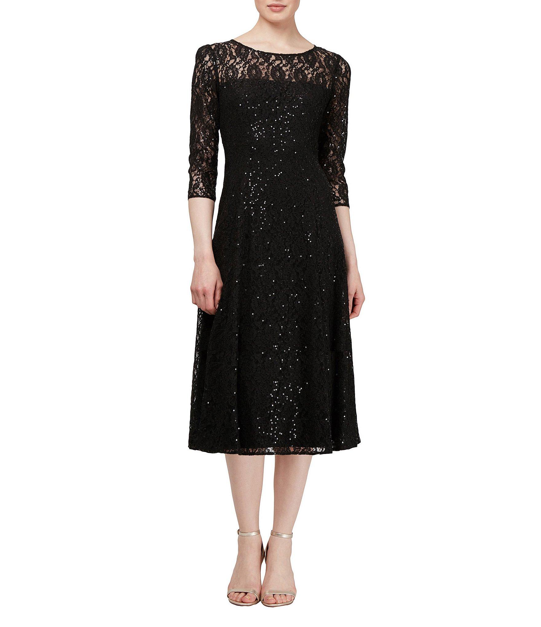 Ignite Evenings Sequin Lace Midi Dress