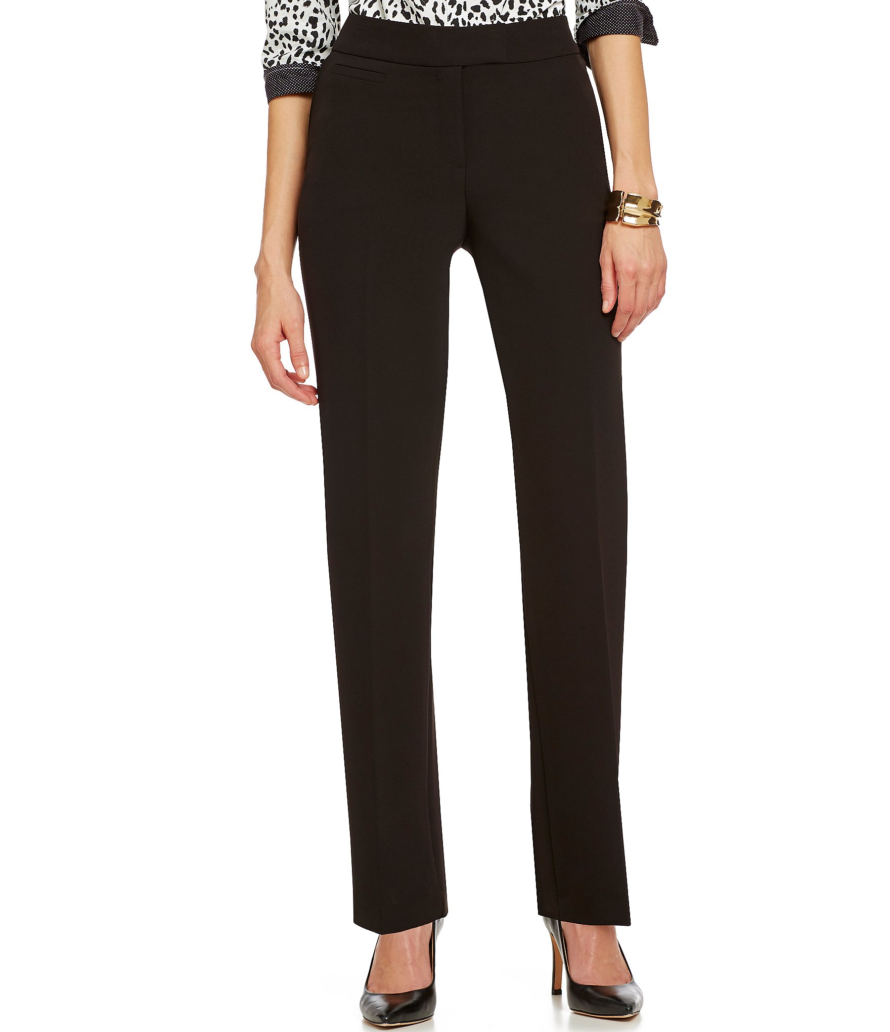 Investments The 5th Ave Fit Wrinkle Free Straight Leg