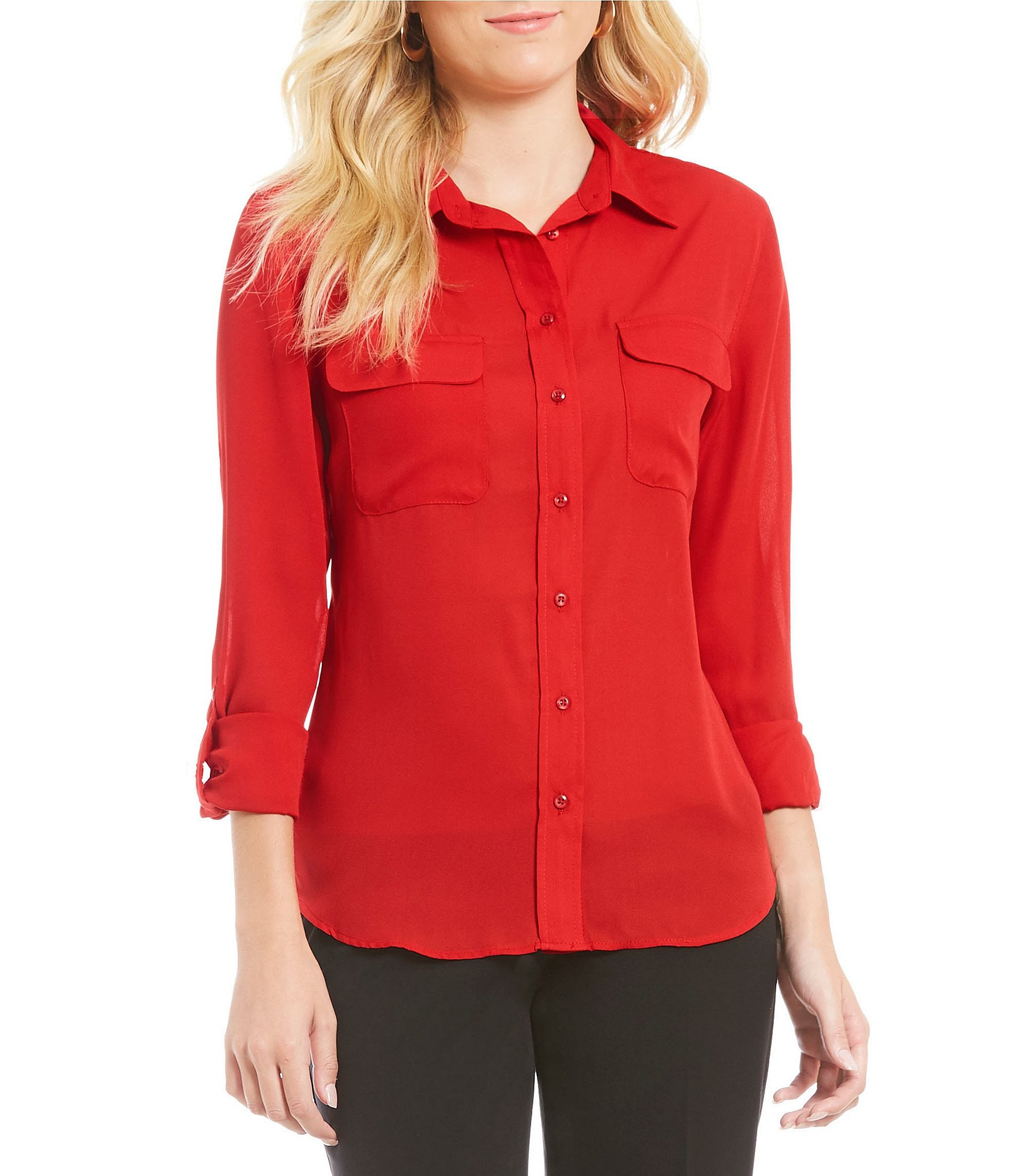 Shop red long sleeves blouse at Neiman Marcus, where you will find free shipping on the latest in fashion from top designers.