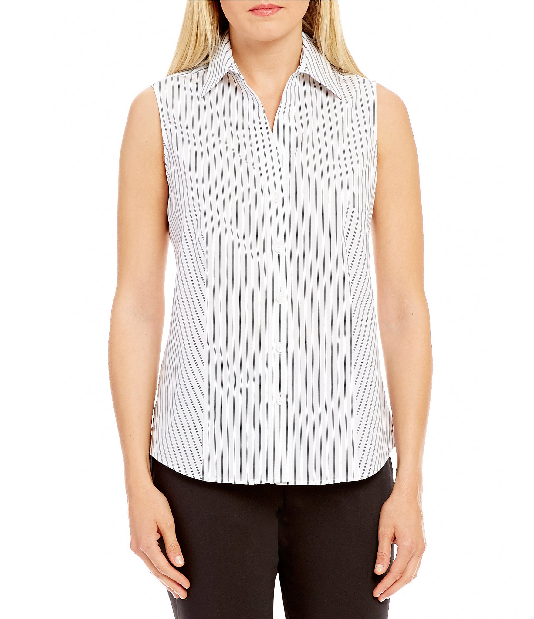Pierced Button Front Sleeveless White Blouse on sale only US$ now, buy cheap Pierced Button Front Sleeveless White Blouse at allshop-eqe0tr01.cf