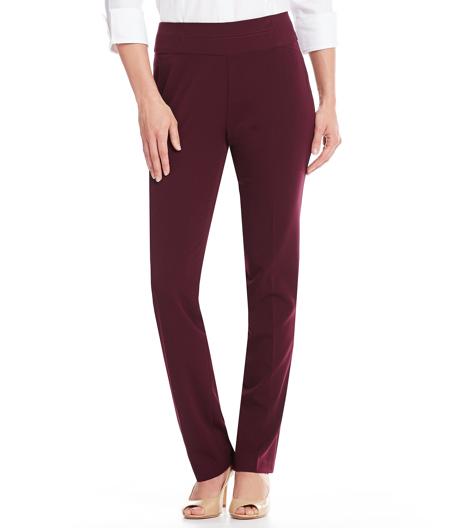 Investments The PARK AVE Fit Pull On Modern Straight Leg Pant