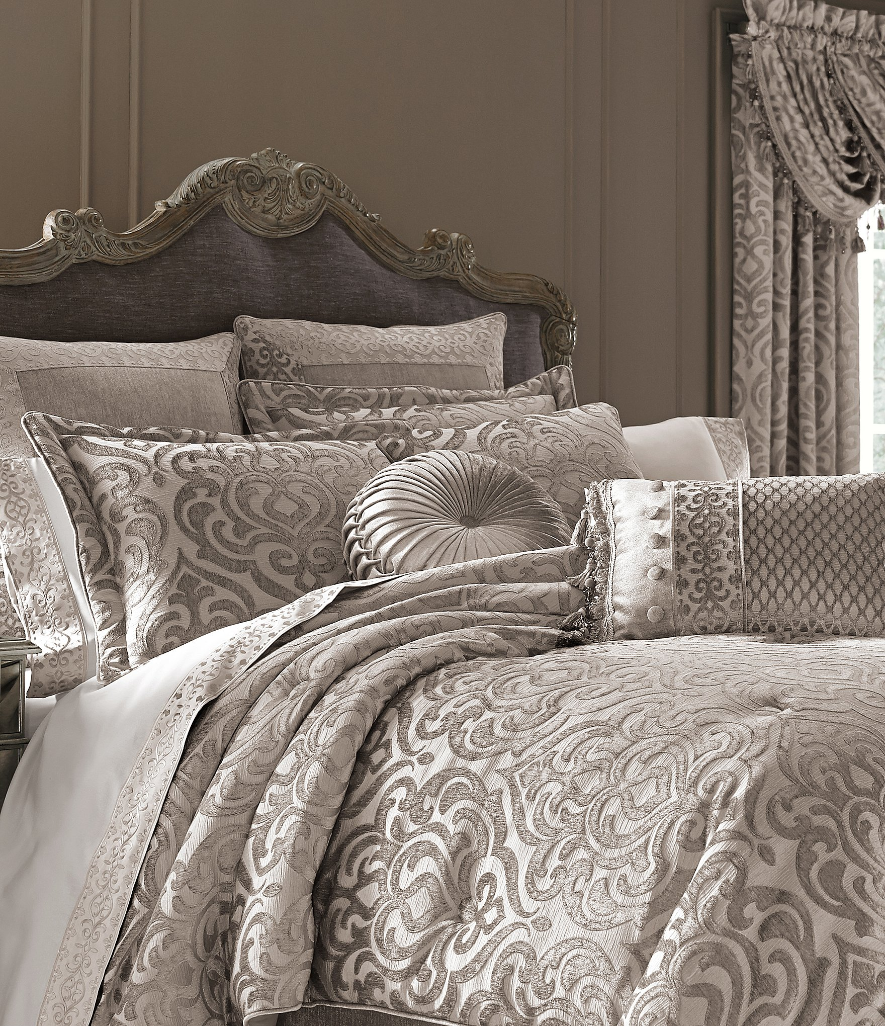 J Queen New York Sicily Damask Chenille Comforter Set Dillards