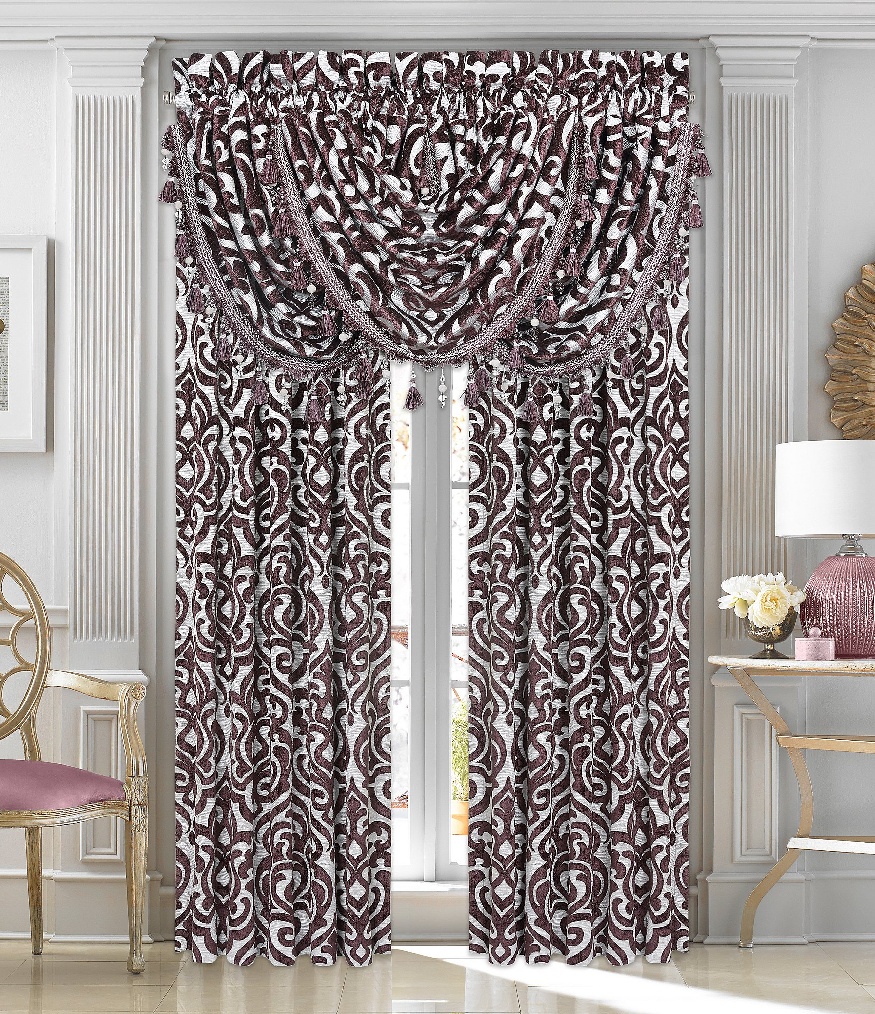 J Queen New York Sicily Damask Chenille Window Treatments