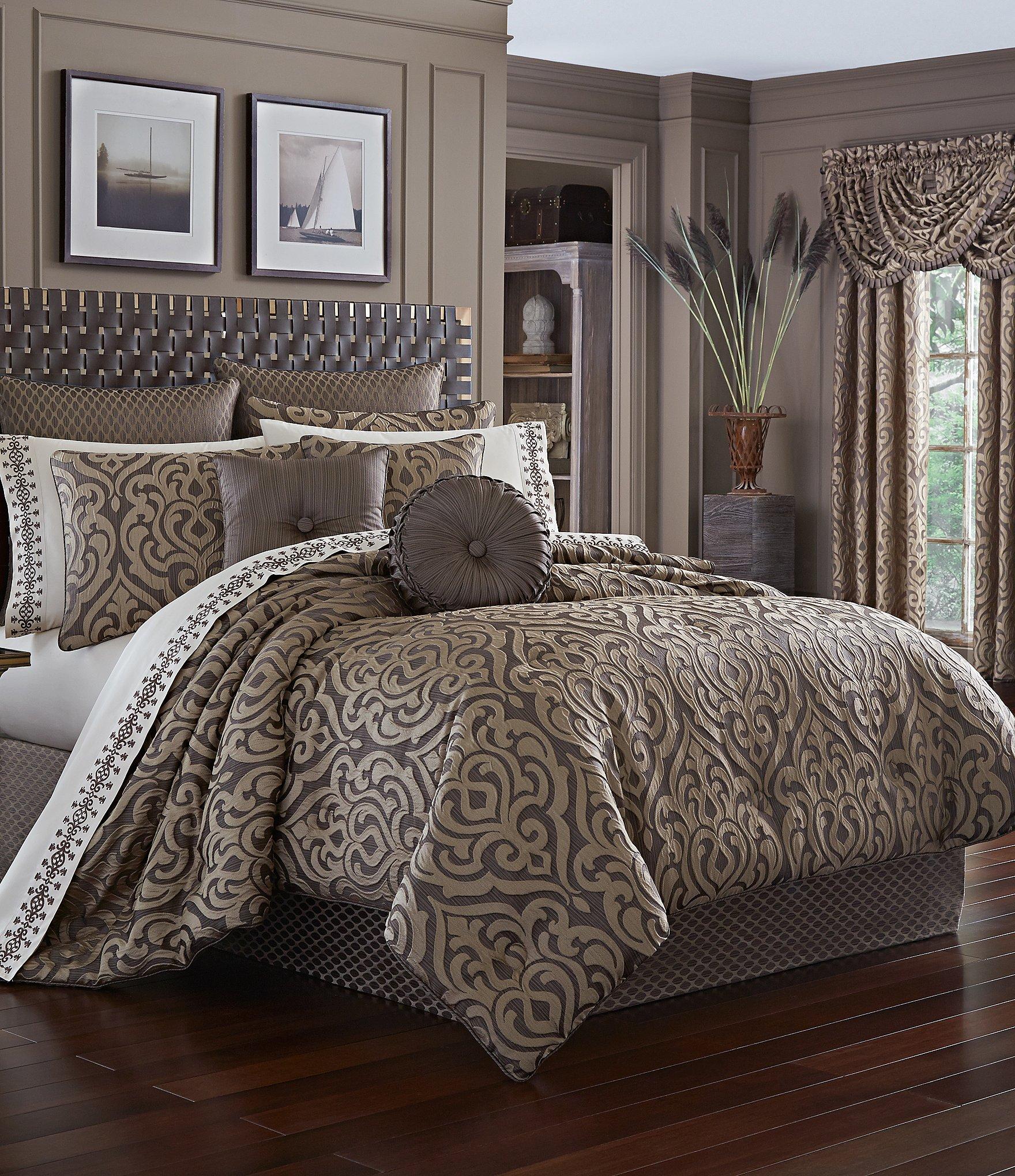 Elegant Damask Bedding Photograph Of Bed Decor