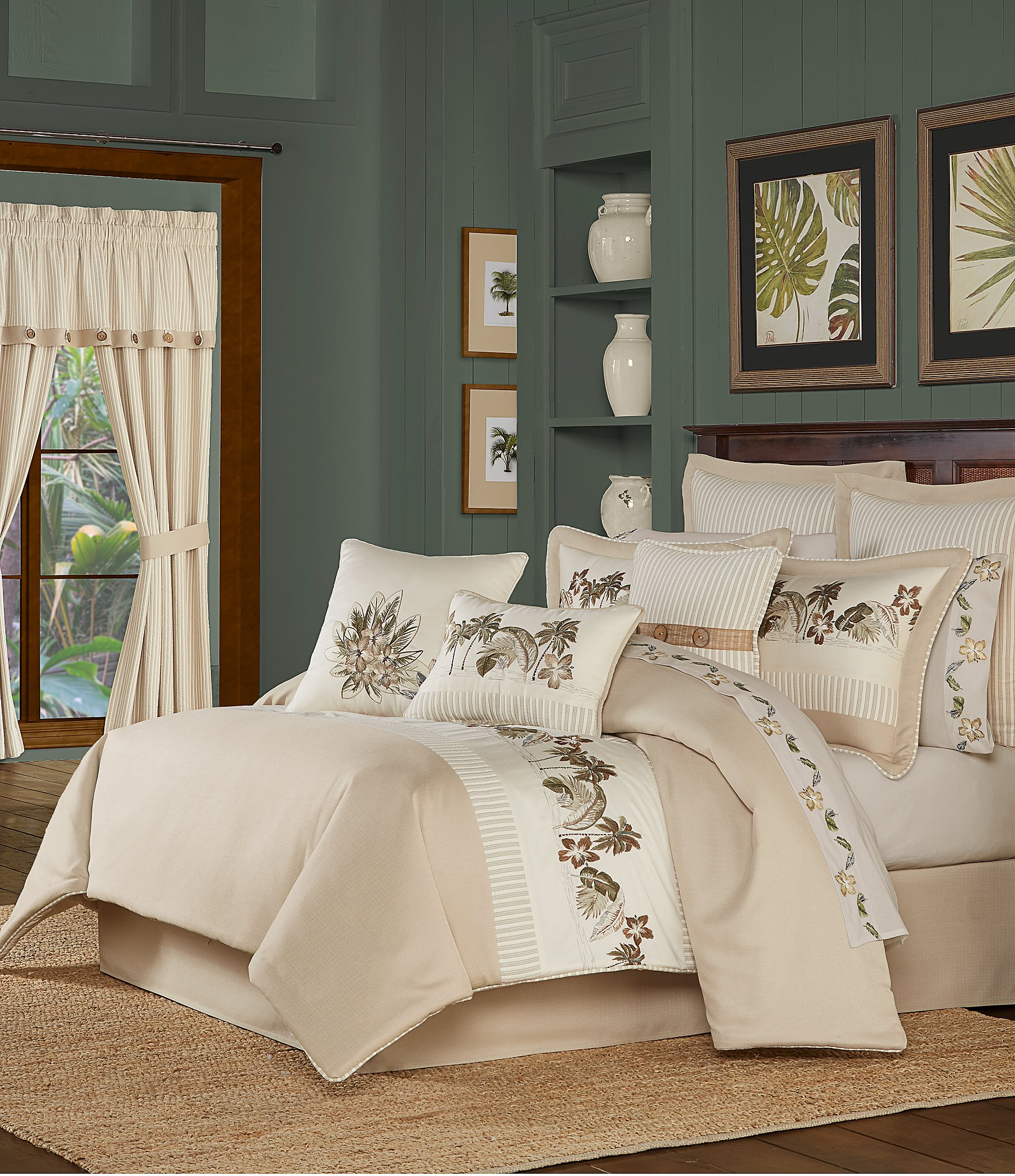 J Queen New York Palm Beach Comforter Set Dillard S