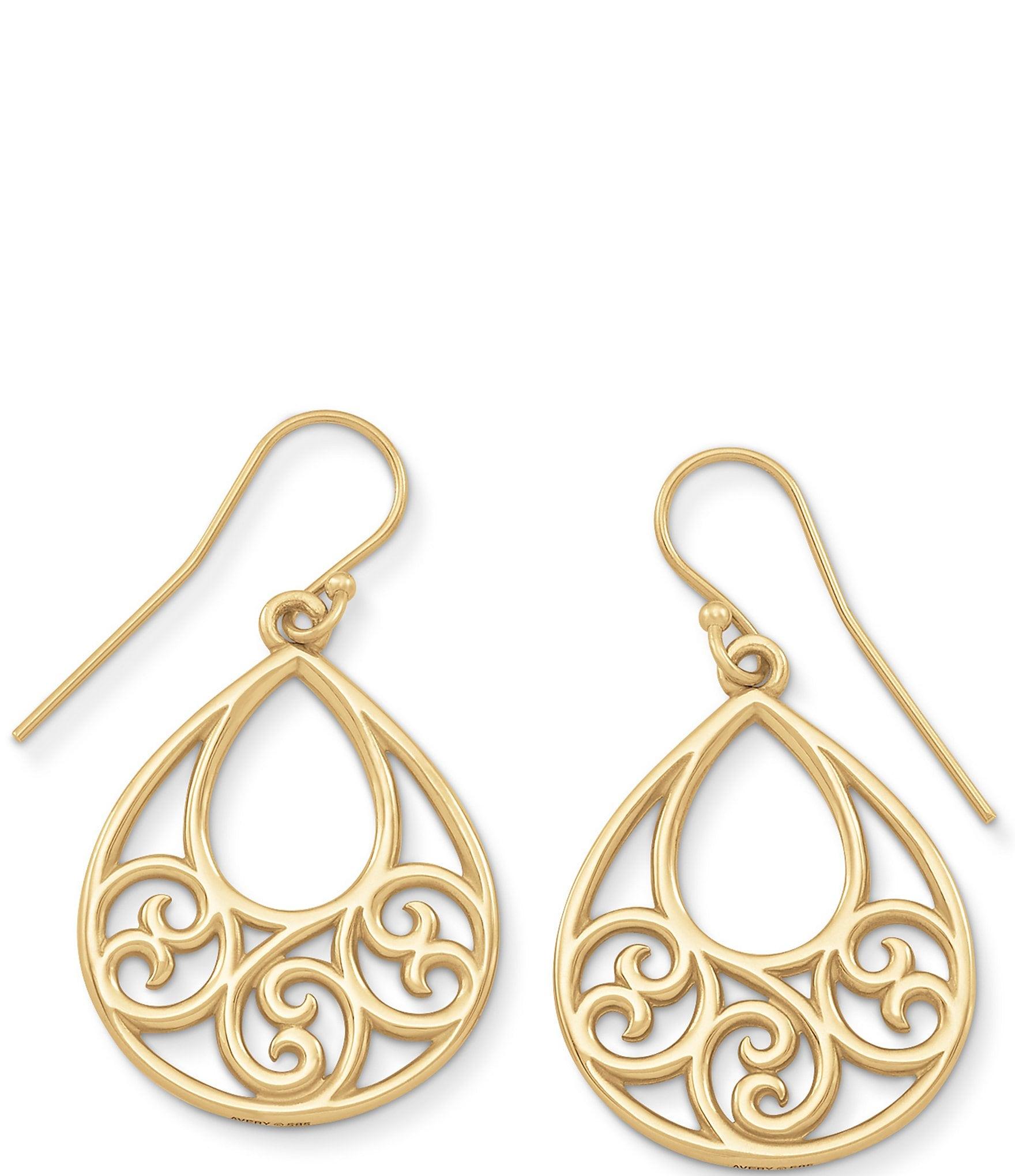 1195aacb6b847 James Avery 14K Gold Gentle Wave Ear Hooks