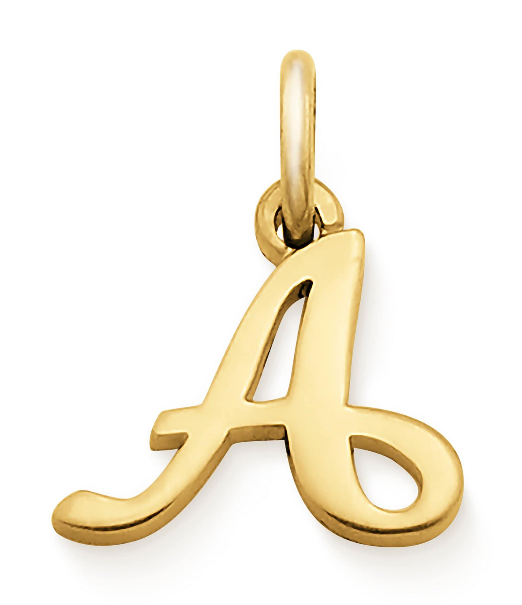James Avery 14K Gold Script Initial Charm