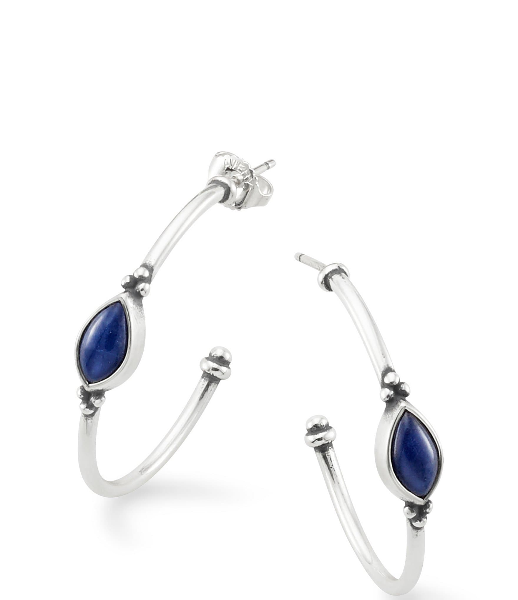 c36f7741f10d0 James Avery Adela Hoop Ear Posts with Sodalite
