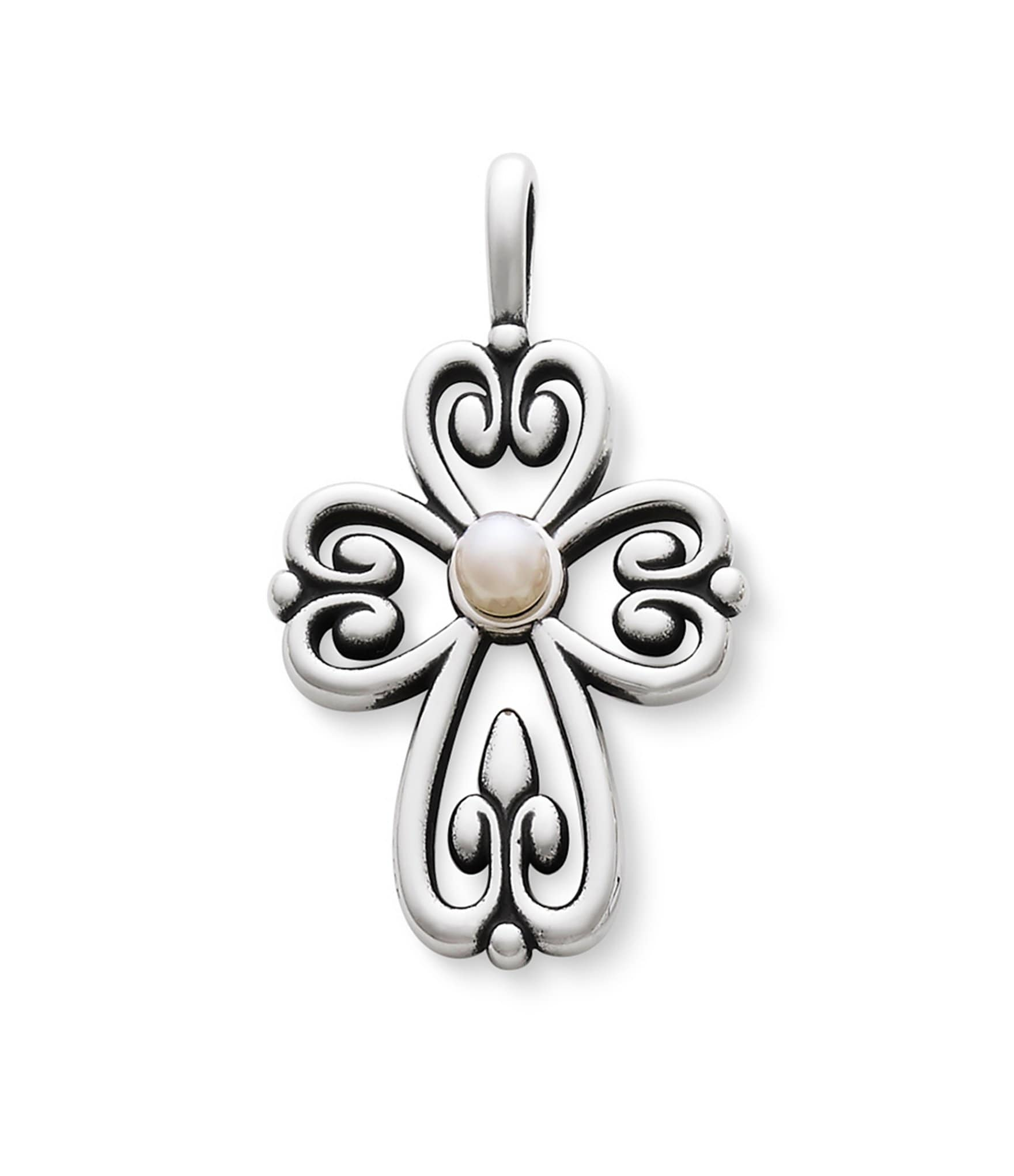 James Avery Mens Cross Necklace: James Avery Cross Of Adoration Pearl Pendant