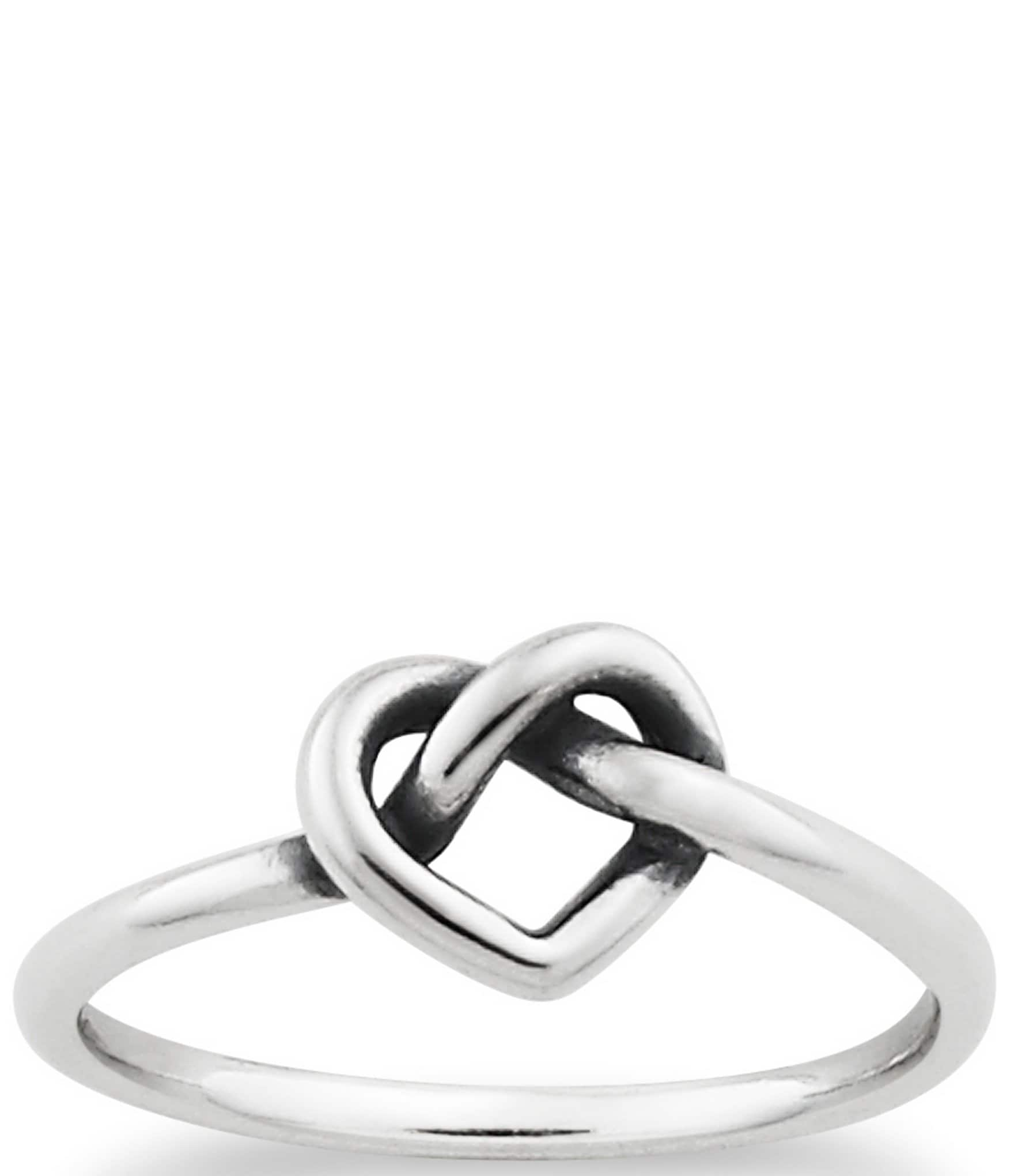 James Avery Delicate Heart Knot Ring Dillards