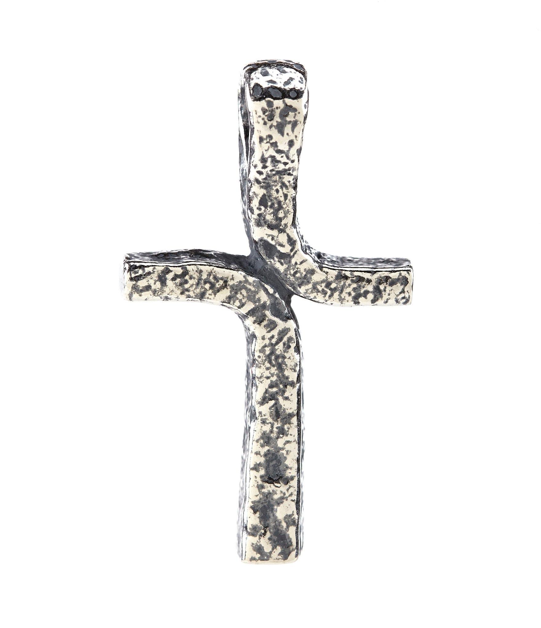 James Avery Rustic Cross Sterling Silver Pendant