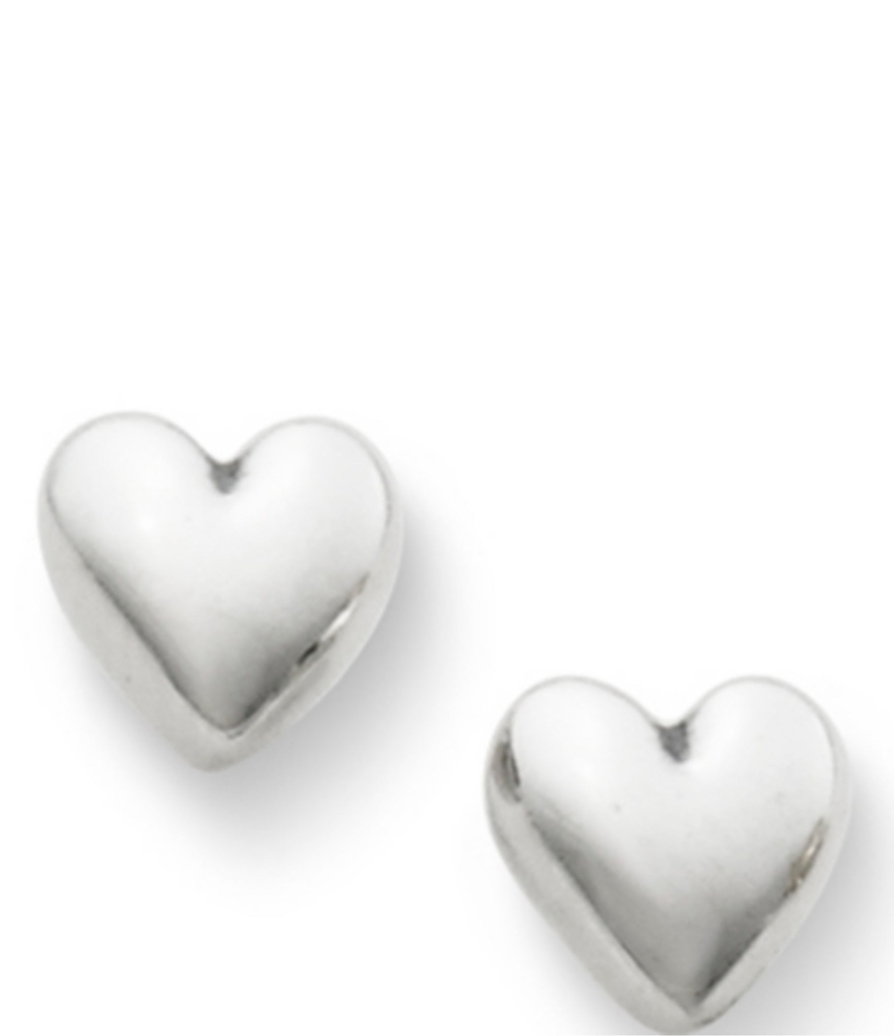 James Avery Solid Heart Sterling Silver Stud Earrings Dillards