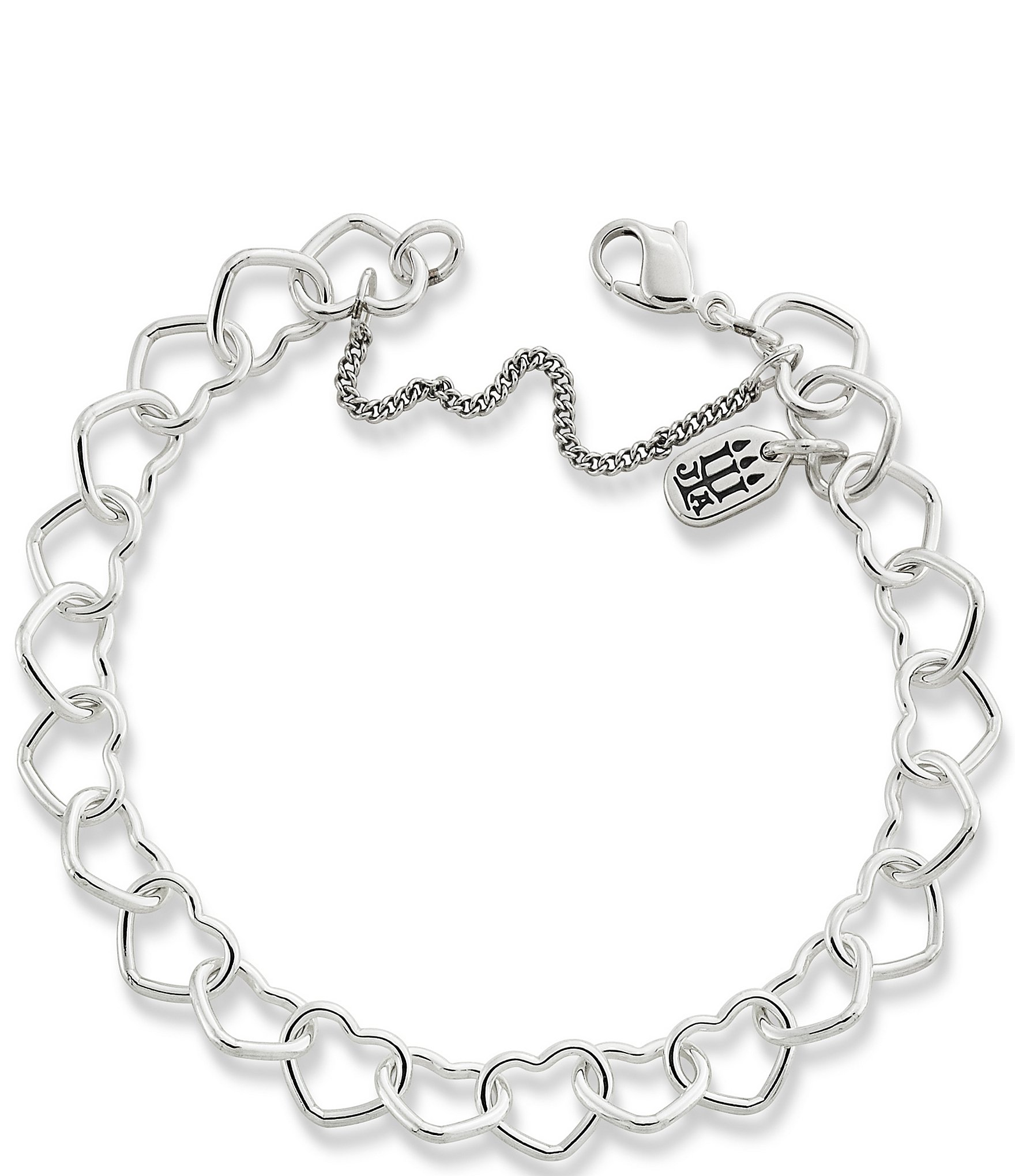 a96677eb0da84 James Avery Sterling Silver Connected Hearts Charm Bracelet