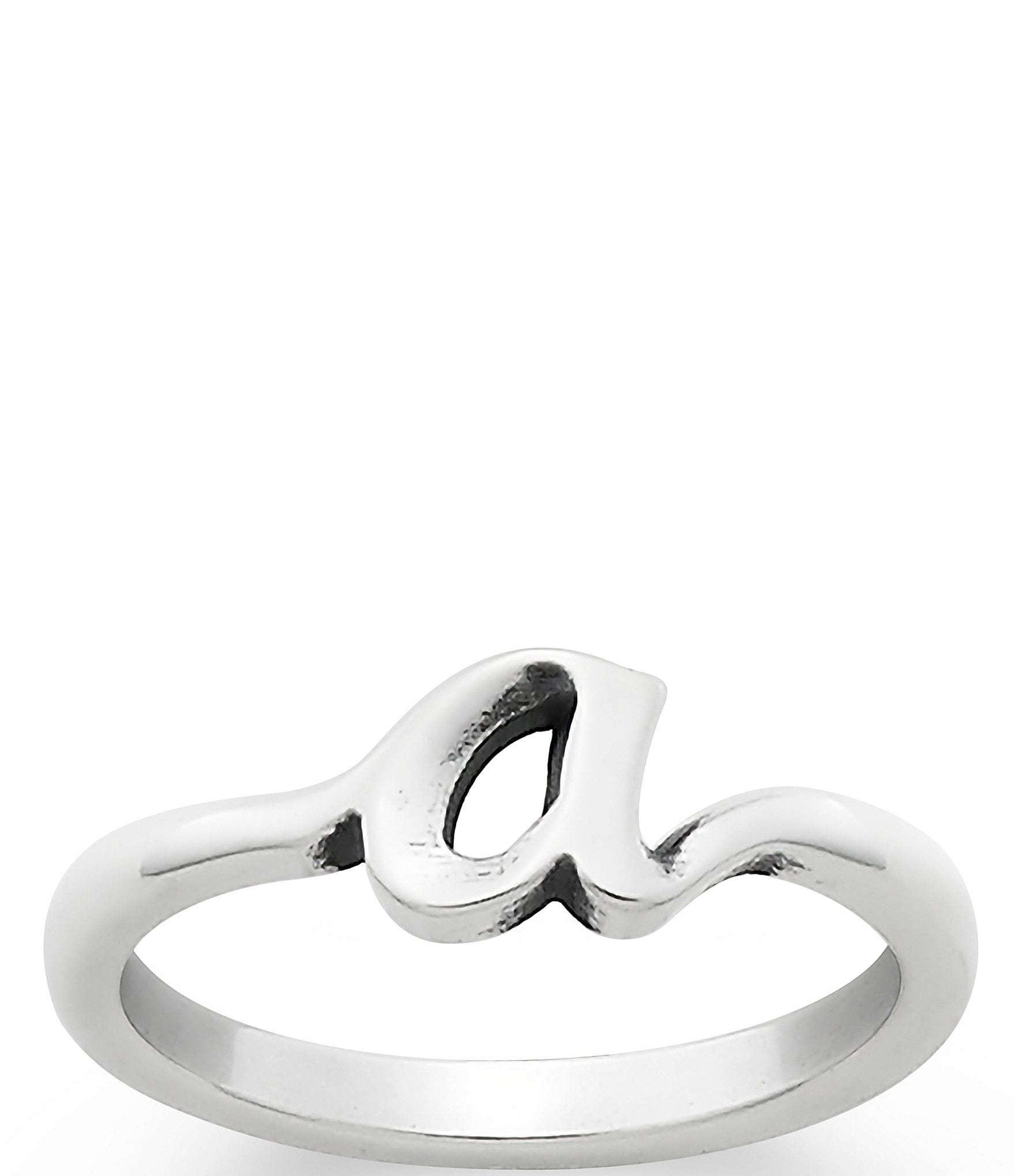 James Avery Sterling Silver Script Initial Ring Dillards